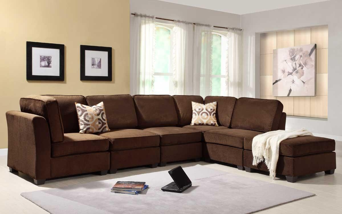 Simple Chocolate Brown Living Room Sets Best 25 Sectional Decor Pertaining To Chocolate Brown Sectional (Image 13 of 15)