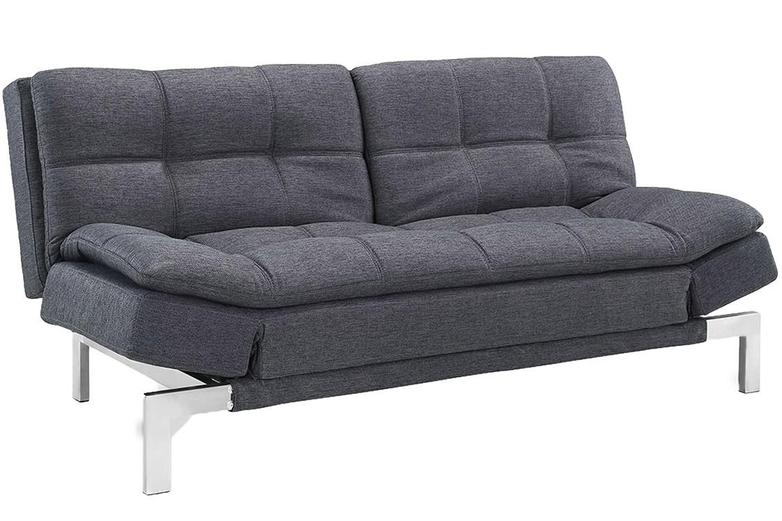 Simple Modern Futon Sofa Bed Grey | Boca Futon| The Futon Shop Intended For Convertible Sofa Chair Bed (Image 19 of 20)