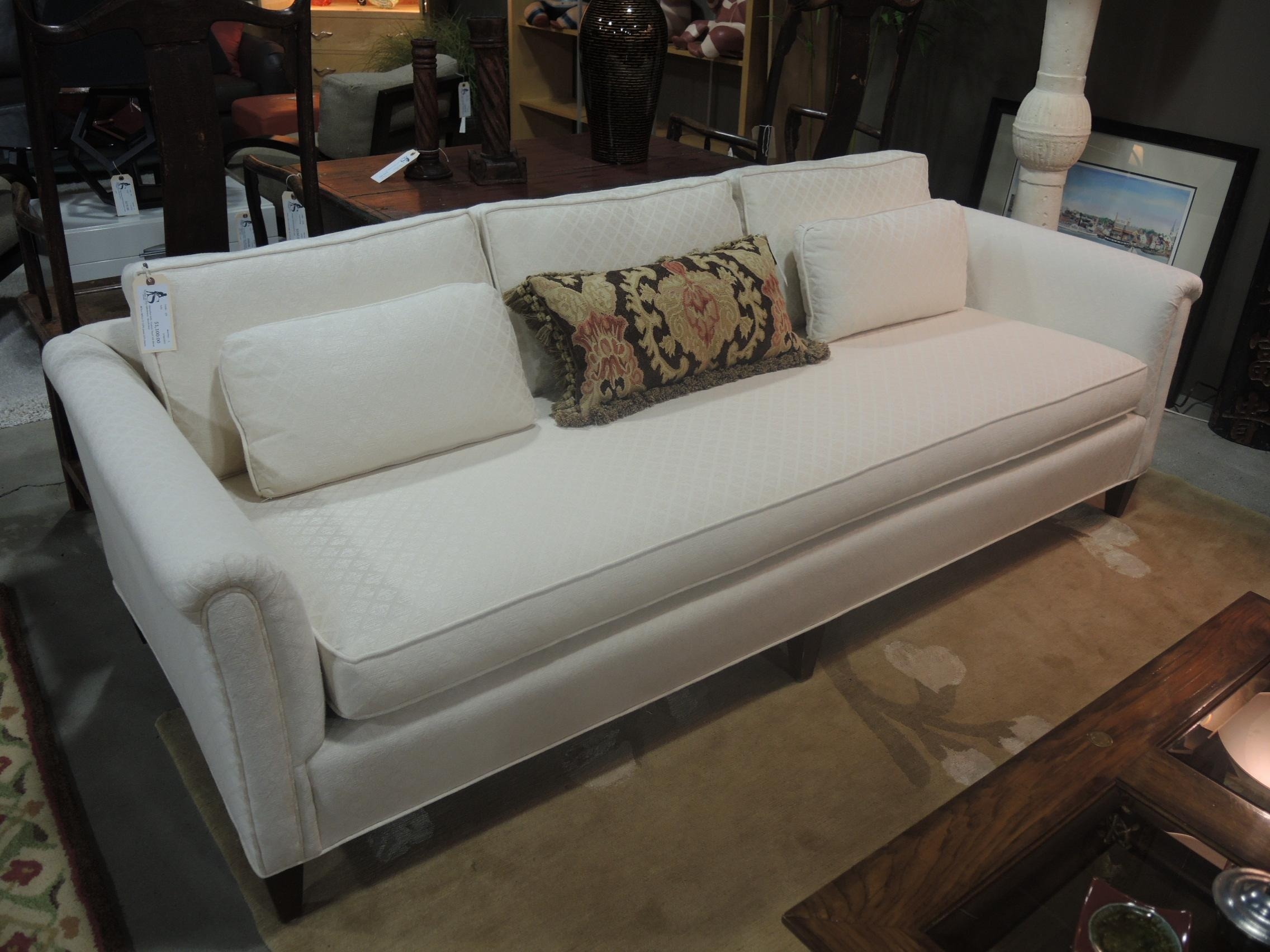 Single Cushion Sofa Couch | Cushions Decoration Intended For Bench Cushion Sofas (Image 17 of 20)