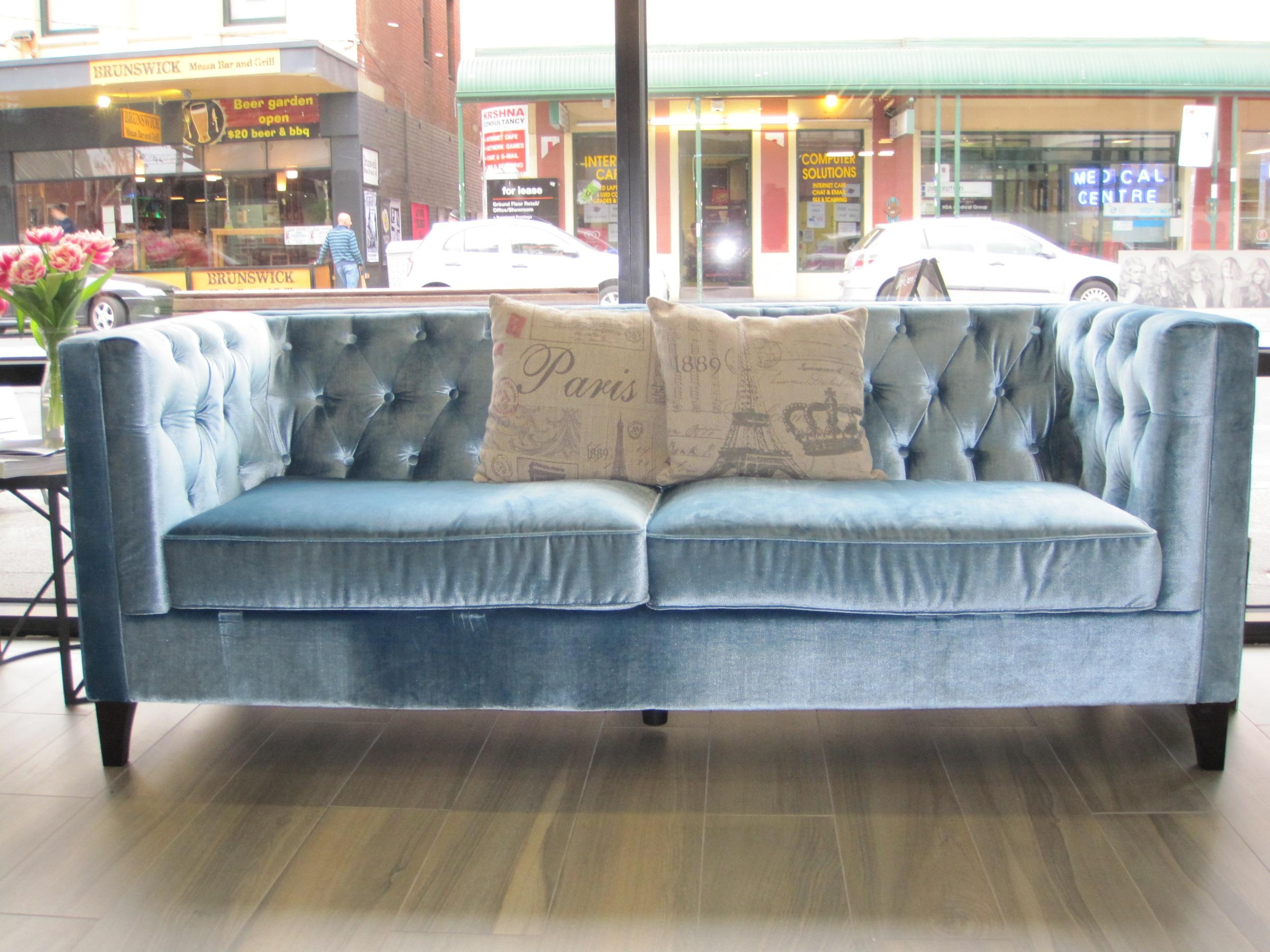 Sky Blue Sofa With Inspiration Design 23339 | Kengire Intended For Sky Blue Sofas (View 14 of 20)