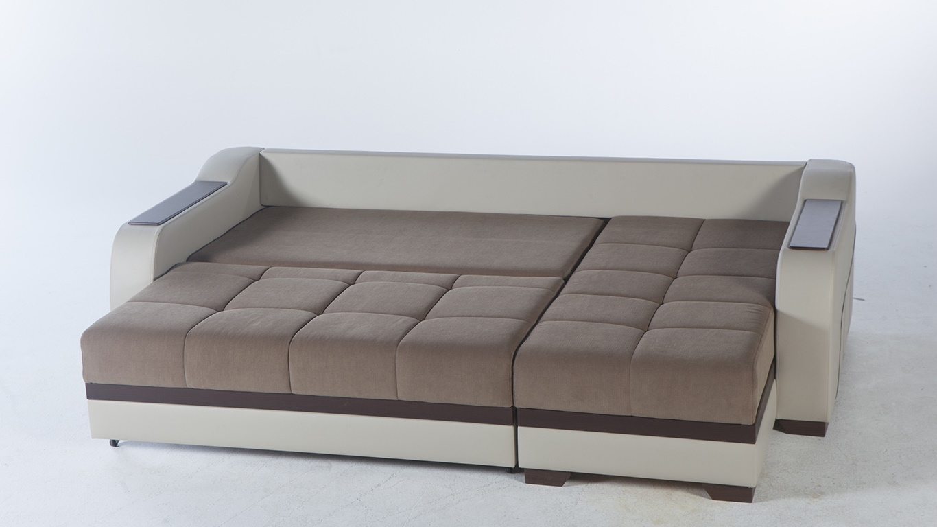 Sleeper Sectional Sofa Optimum Brownsunset Istikbal In Sleeper Sectional Sofas (Image 13 of 20)