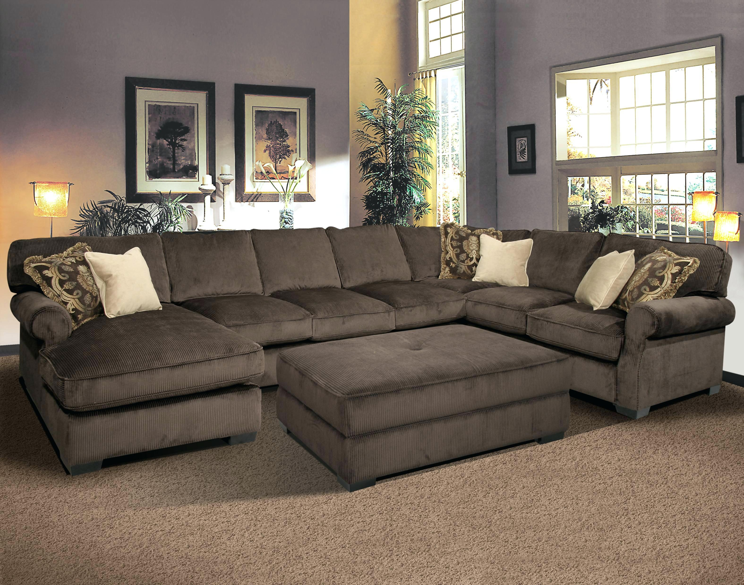 Sleeper Sectionals For Small Spaces Beautiful Purple Microfiber Throughout Large Microfiber Sectional (Image 16 of 20)