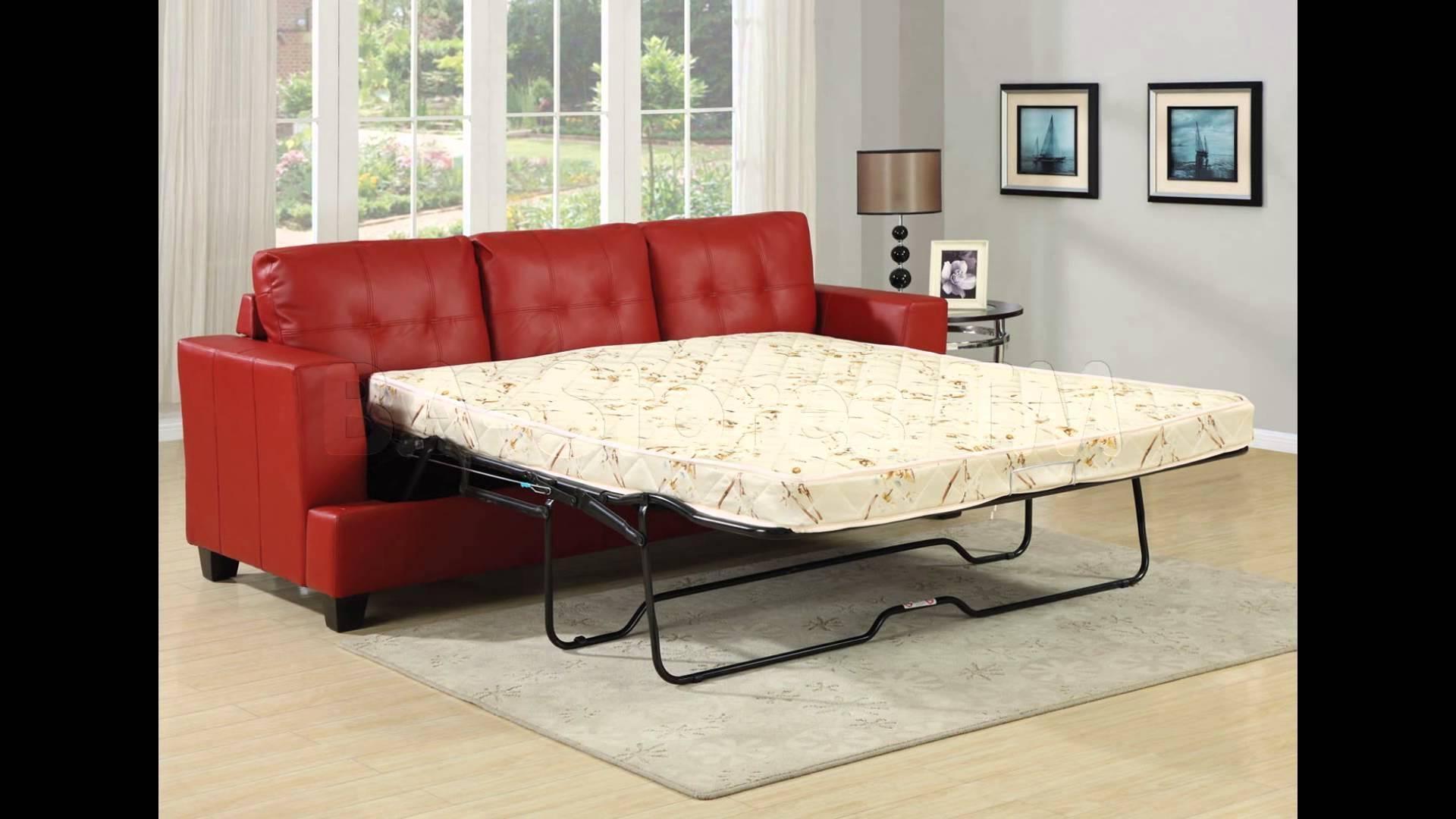 Sleeper Sofa   Sofa Sleeper   Sectional Sleeper Sofa – Youtube Regarding Red Sleeper Sofa (View 14 of 20)