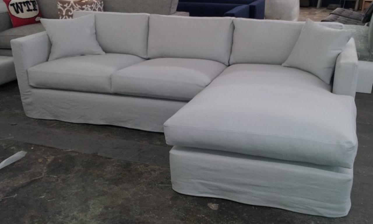 Slipcover For Sectional Sofa With Chaise | Rockdov Home Design In Chaise Sectional Slipcover (View 7 of 15)