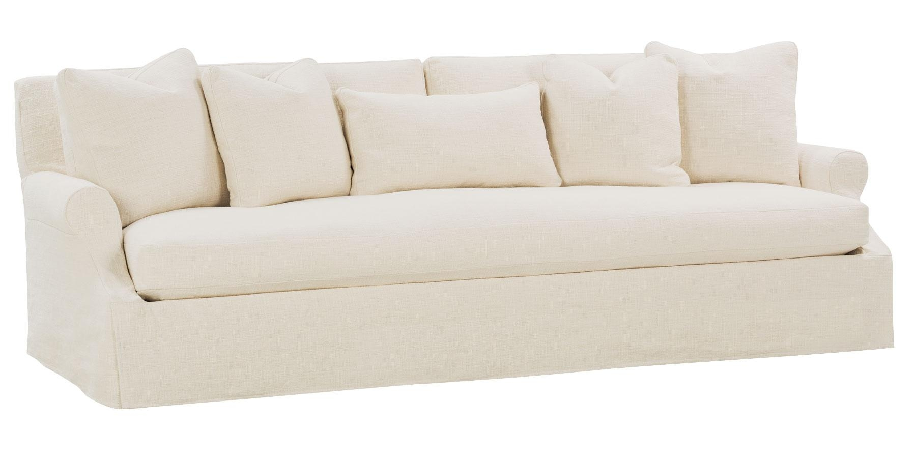 Slipcovered 3 Lenghts Select A Size Bench Seat Extra Long Grand Inside Slipcover Style Sofas (View 14 of 20)