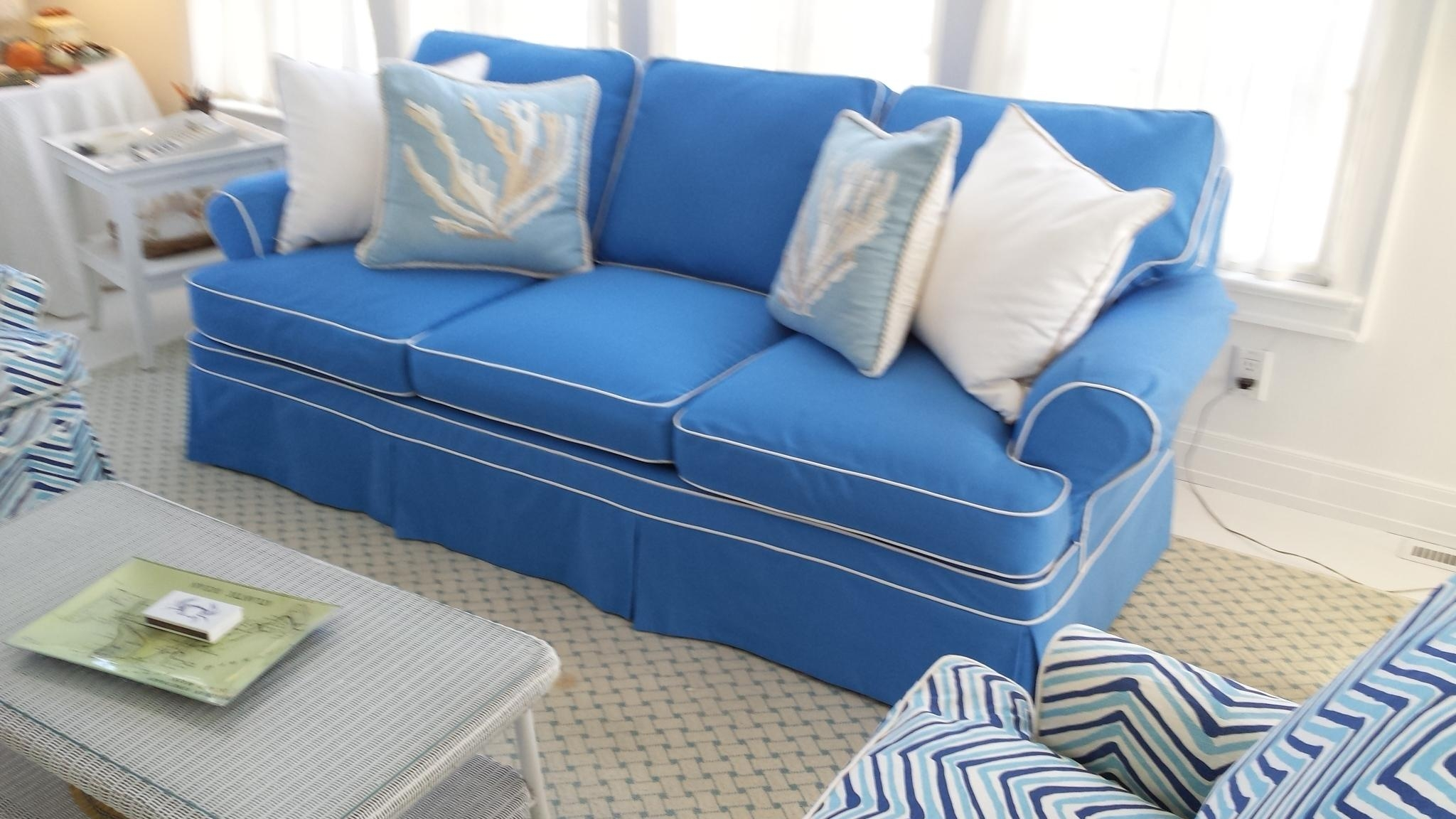 Slipcovers « Cecilia Decor Inside Blue Slipcovers (View 2 of 20)