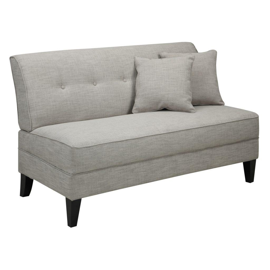 20 best small armless sofa sofa ideas for Small settee