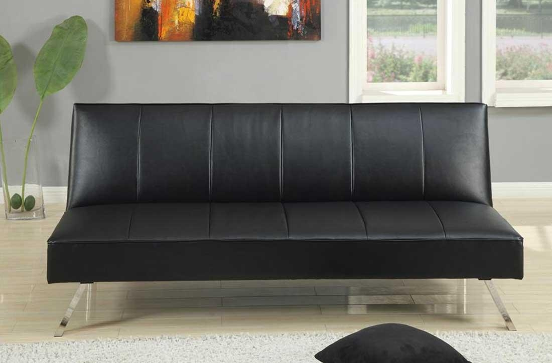 20 choices of small black sofas sofa ideas for Small black couch