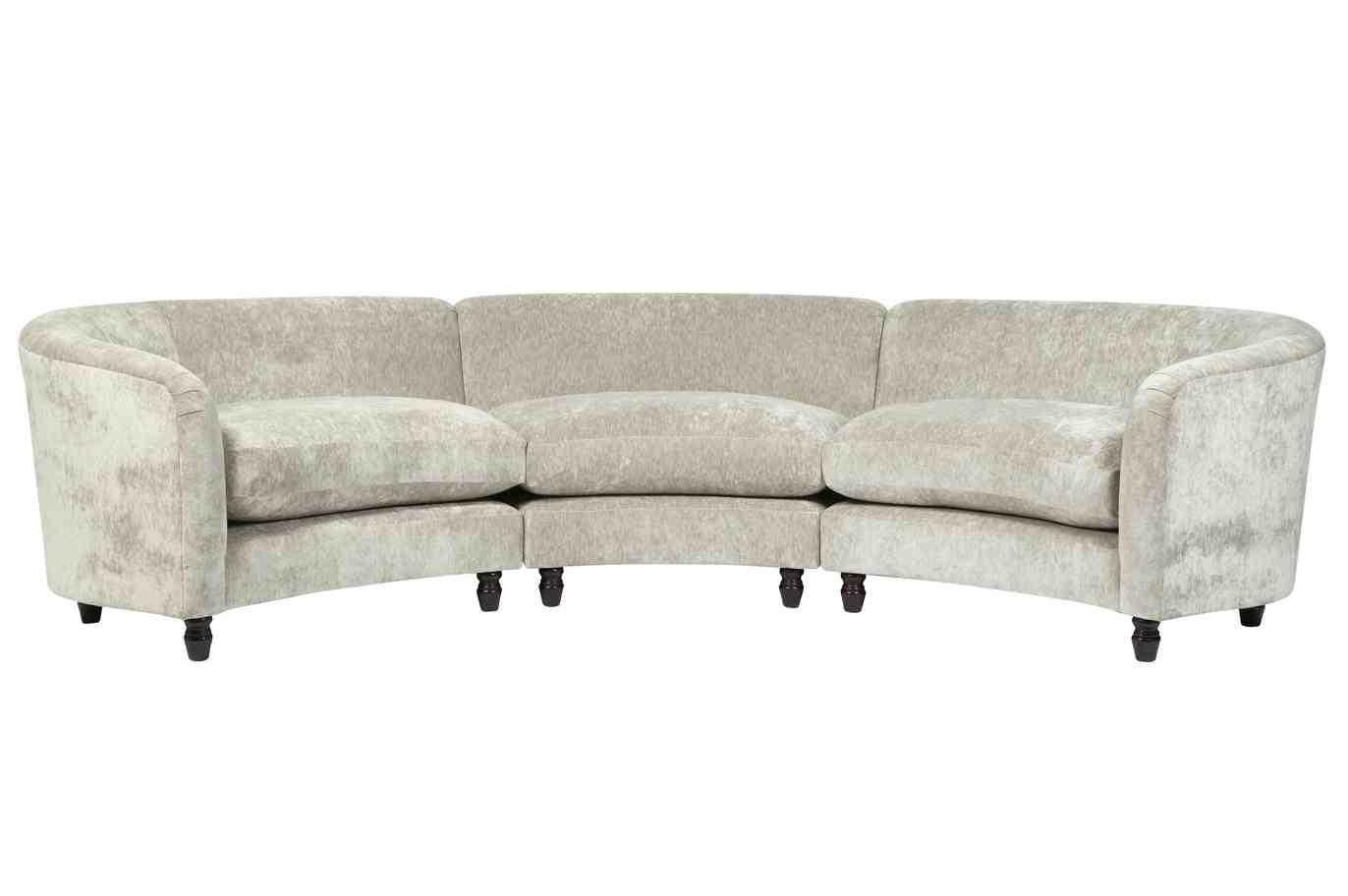 Small curved sectional sofa furniture using curved for Curved sectional sofa for small space