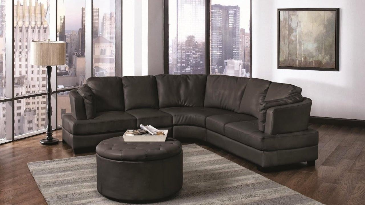 Small Curved Sectional Sofa – Youtube Intended For Small Curved Sectional Sofas (Image 12 of 20)