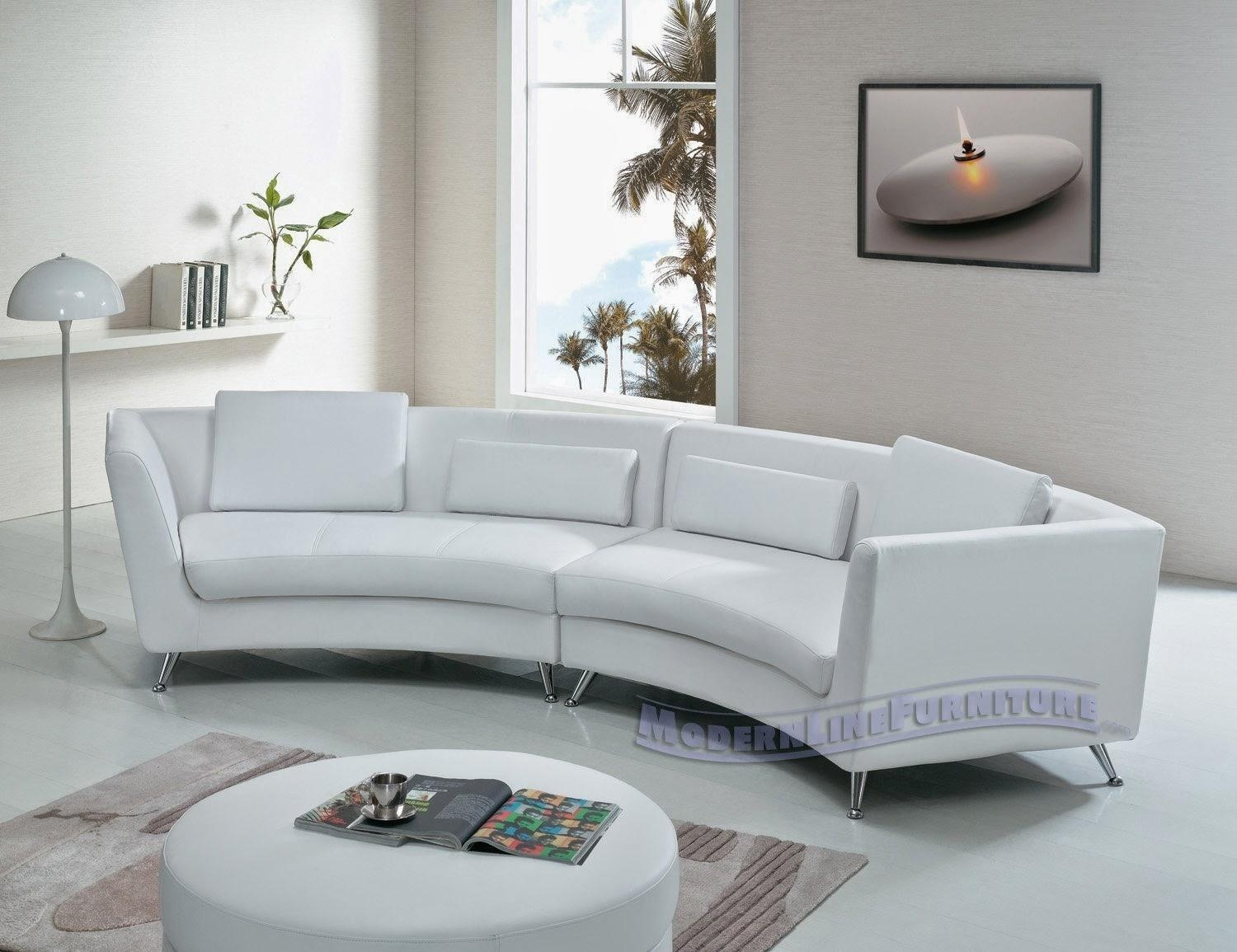 Small Curved White Leather Couch | Tehranmix Decoration With Regard To Leather Curved Sectional (Image 16 of 20)