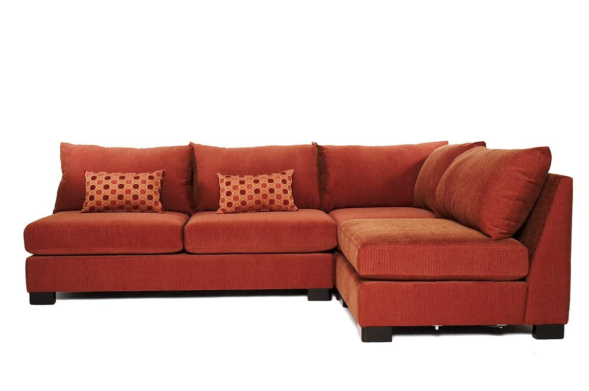 Small Spaces Microfiber Chocolate Small Sectional Sofa – S3Net Intended For Small Modular Sectional Sofa (Image 19 of 20)