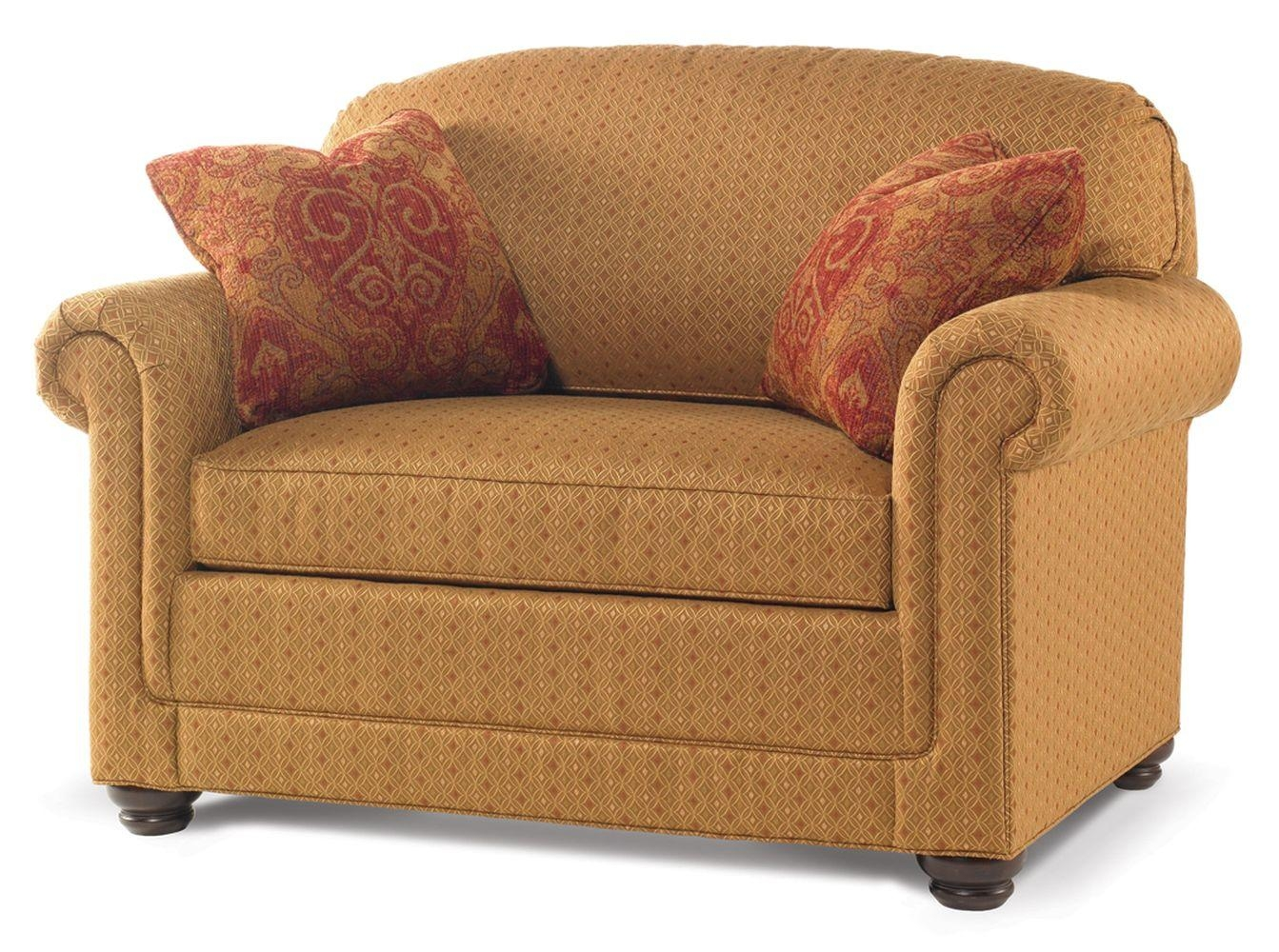 Small Twin Sleeper Sofas Chairs With Pillow And Storage Plus Brown With Regard To Twin Sofa Chairs (Image 9 of 20)