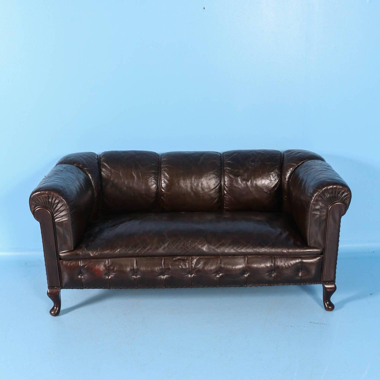 Small Vintage Chesterfield Sofa, England, Circa 1920 – 1940 At 1Stdibs Intended For Vintage Chesterfield Sofas (Image 3 of 20)