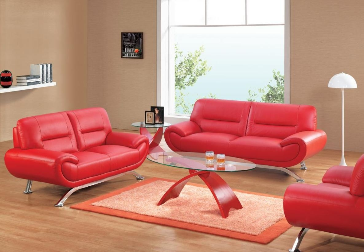 Smlf Furniture Red Sofa. Red Sofa W Contrast Welt.  (Image 19 of 20)