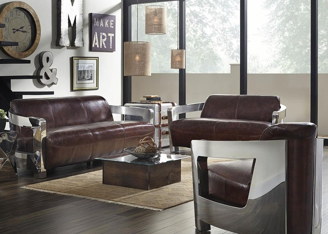 Snap Leather Vintage Bomber Arm Chair In Bomber Leather Sofas (View 19 of 20)