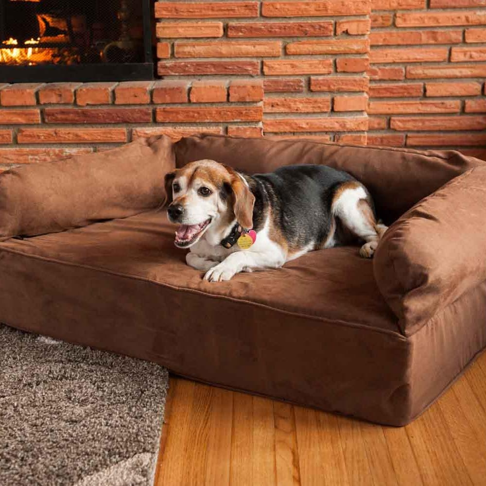 Snoozer Luxury Dog Sofa | Dog Couch | Microsuede Fabric Inside Snoozer Luxury Dog Sofas (Image 4 of 20)