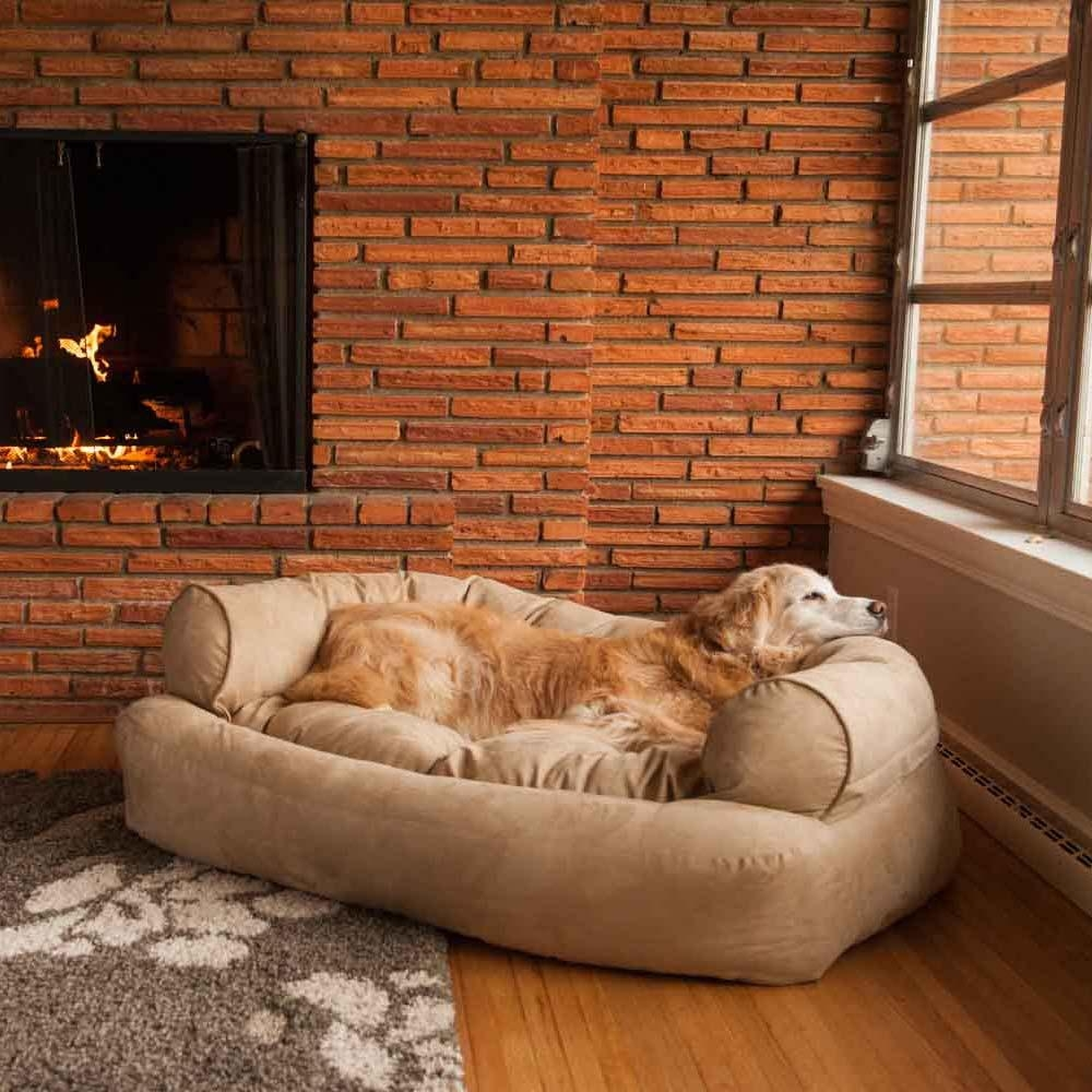 Snoozer Overstuffed Luxury Dog Sofa | Microsuede Fabric With Sofas For Dogs (Image 7 of 20)