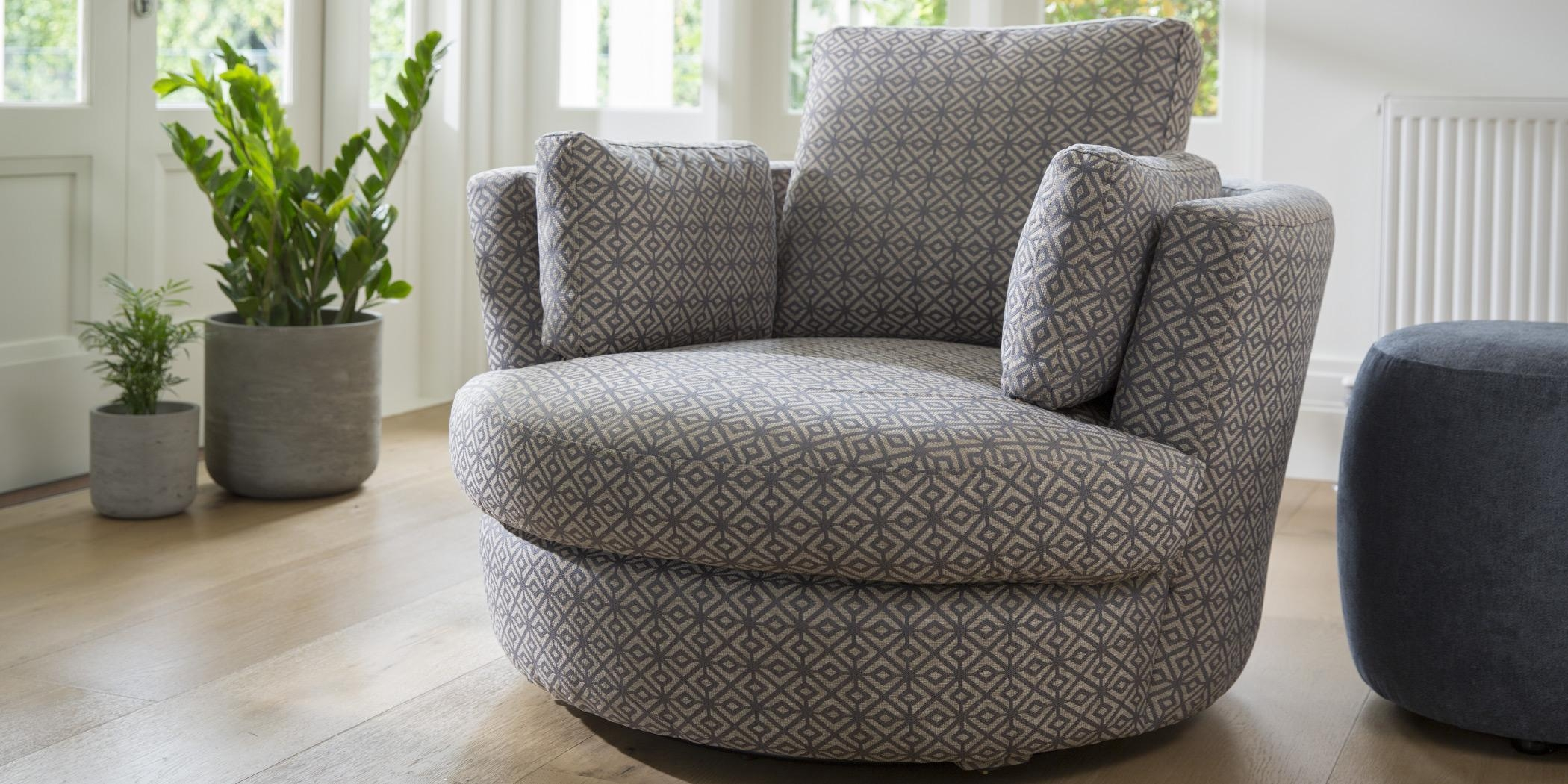 Snuggle Petite Chair | Leather, Fabric, Occasional Chairs | Plush In Snuggle Sofas (Image 15 of 20)