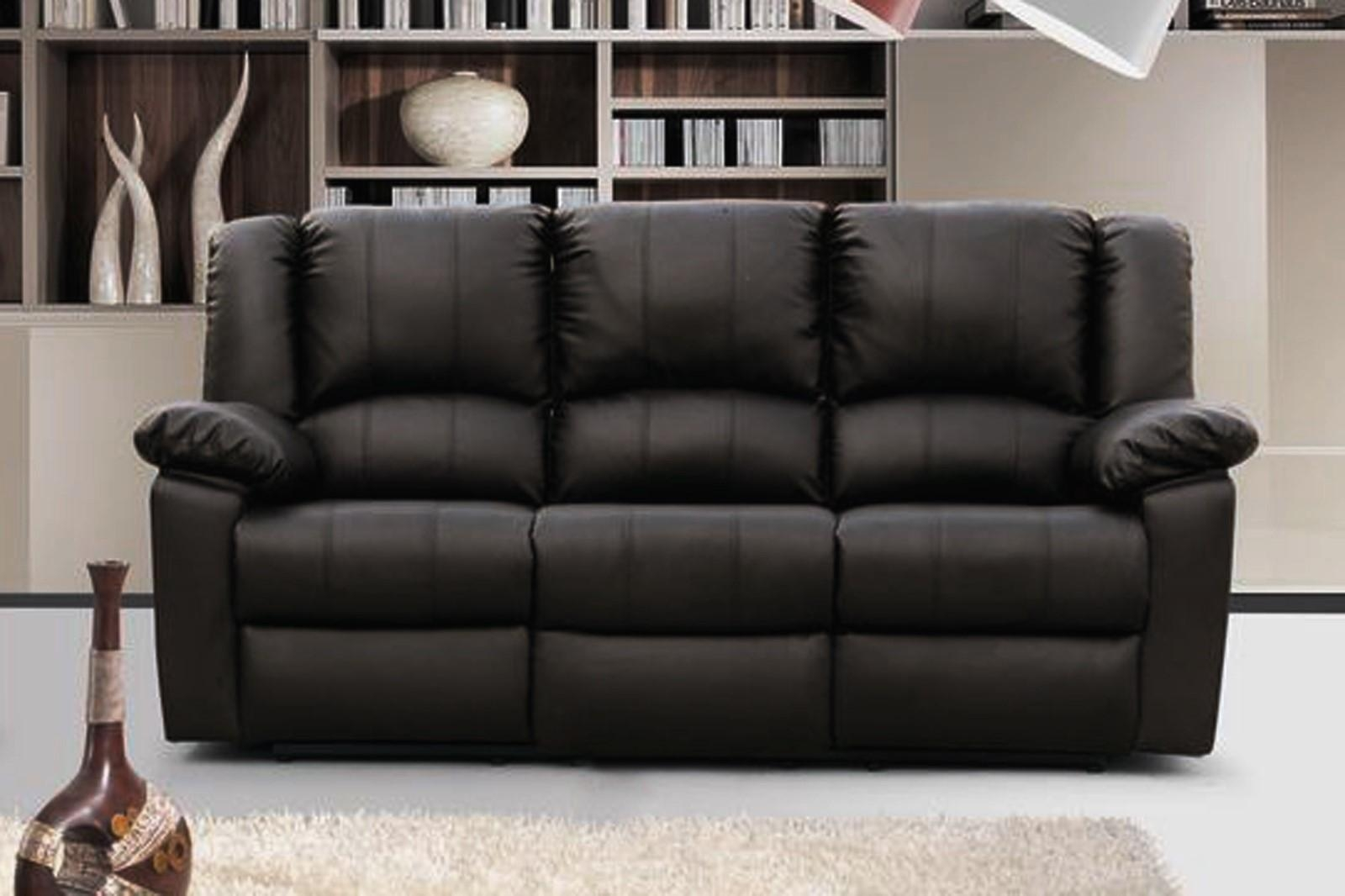 Sofa : 3 Seater Leather Sofa Recliner Home Style Tips Unique At 3 With 3 Seater Leather Sofas (Image 15 of 20)