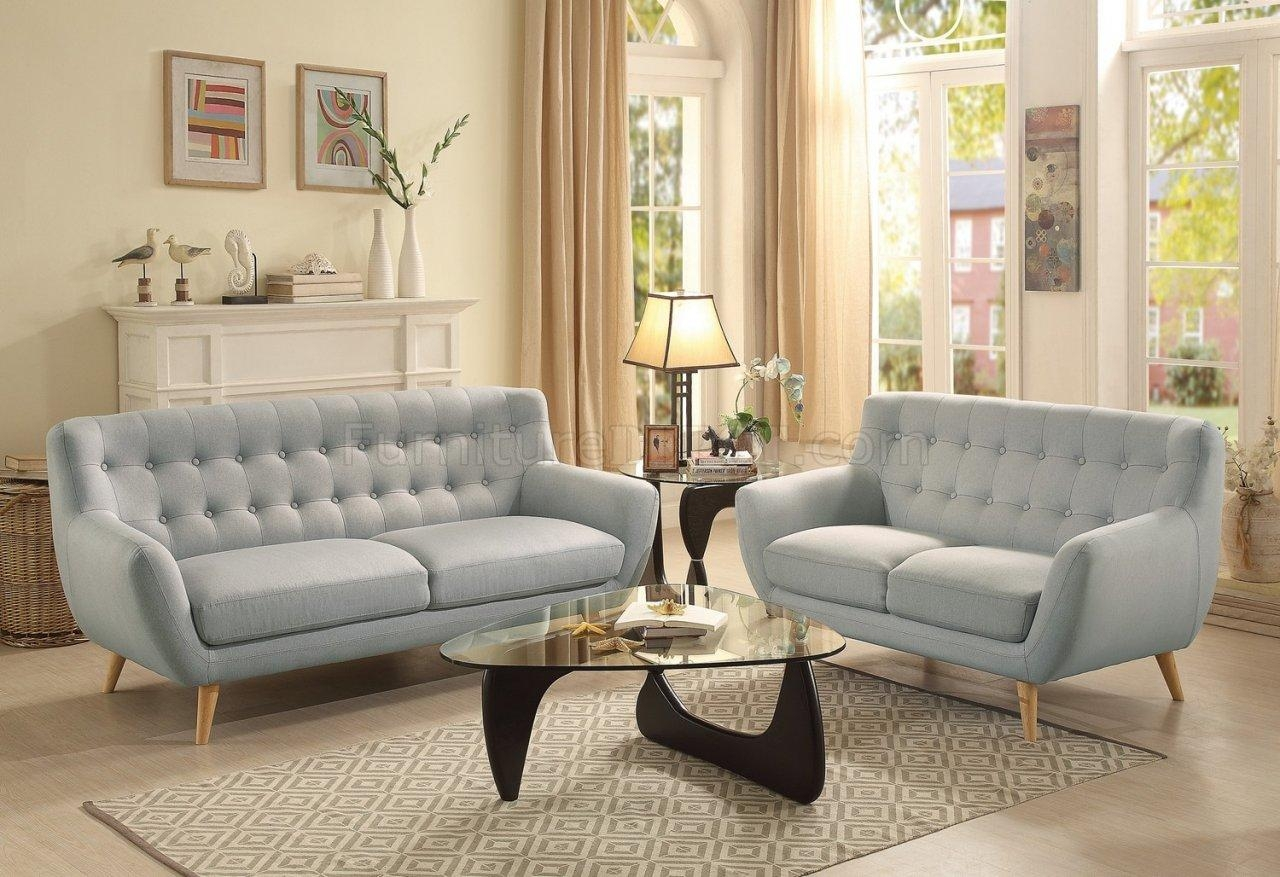 Sofa 8312 In Light Grey Fabrichomelegance W/options For Homelegance Sofas (View 14 of 20)