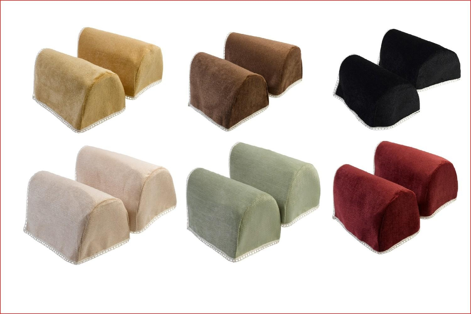 Sofa Arm Cover Protectors Luxury Chenille Round Arm Caps Plain In Arm Protectors For Sofas (Image 12 of 20)