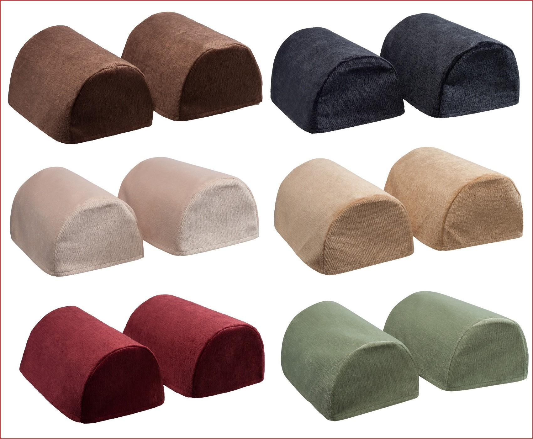 Sofa Arm Cover Protectors Luxury Chenille Round Arm Caps Plain Throughout Sofa Arm Caps (Image 18 of 20)