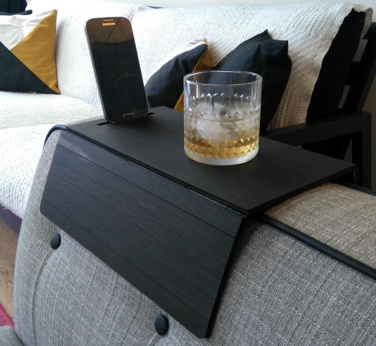 Sofa Arm Tray Placemat Sofa Tray Table Sofa Arm Tray Armrest With Sofa Drink Tables (Image 15 of 20)