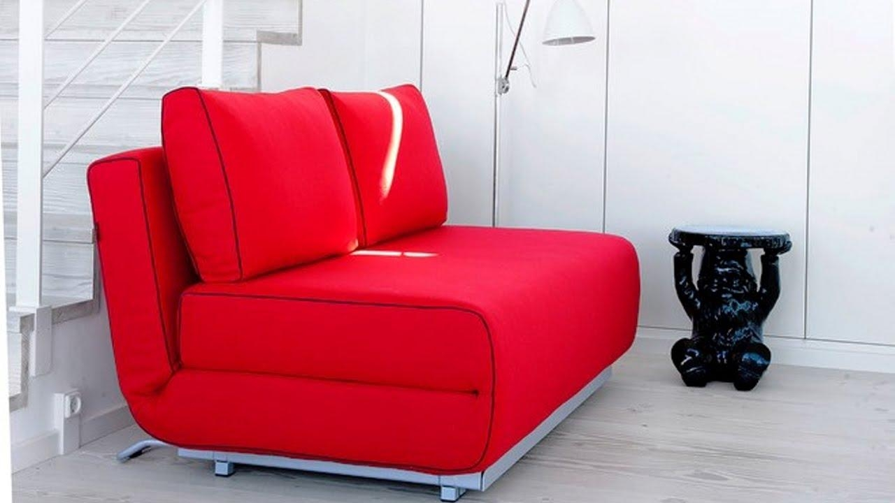 Sofa Bed, A Smart Solution For Small Spaces – Youtube Pertaining To Tiny Sofas (Image 10 of 20)