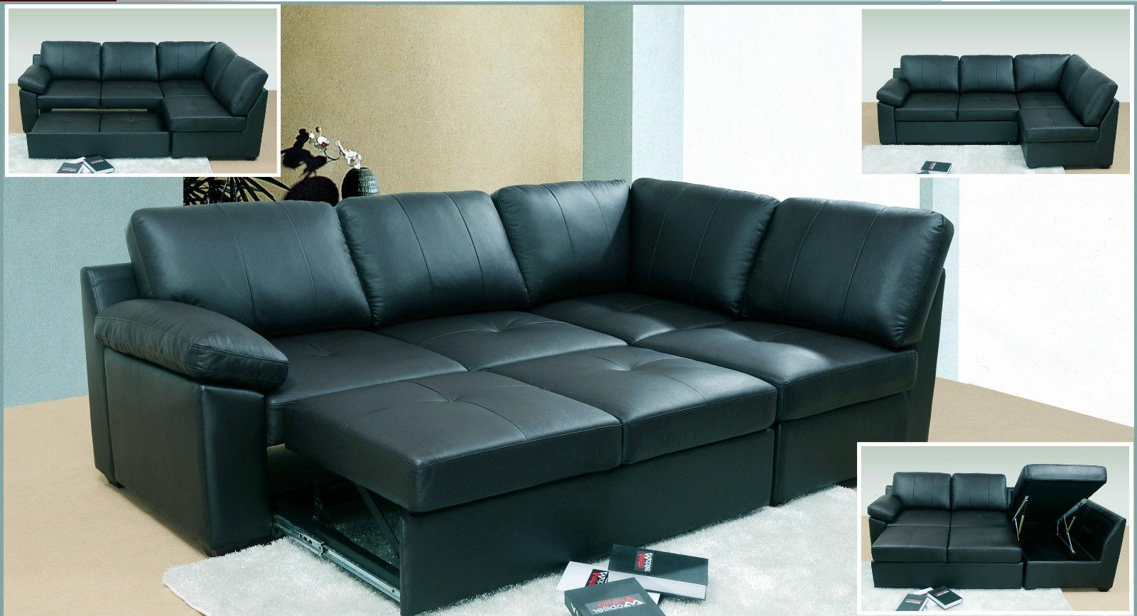 Sofa Bed Leather Within Leather Sofa Beds With Storage (Image 19 of 20)