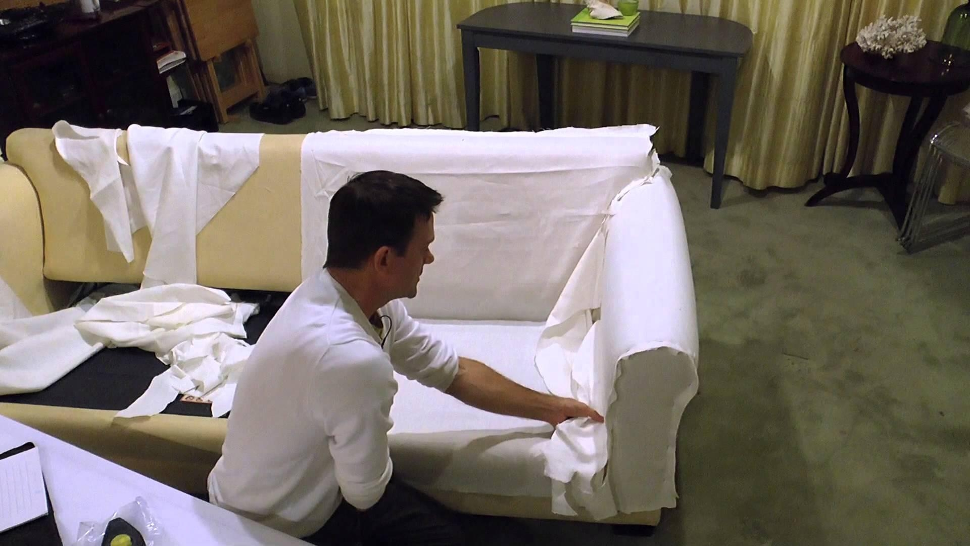 Sofa Bed Slipcover Using Easy Pattern Method (View 8 of 20)