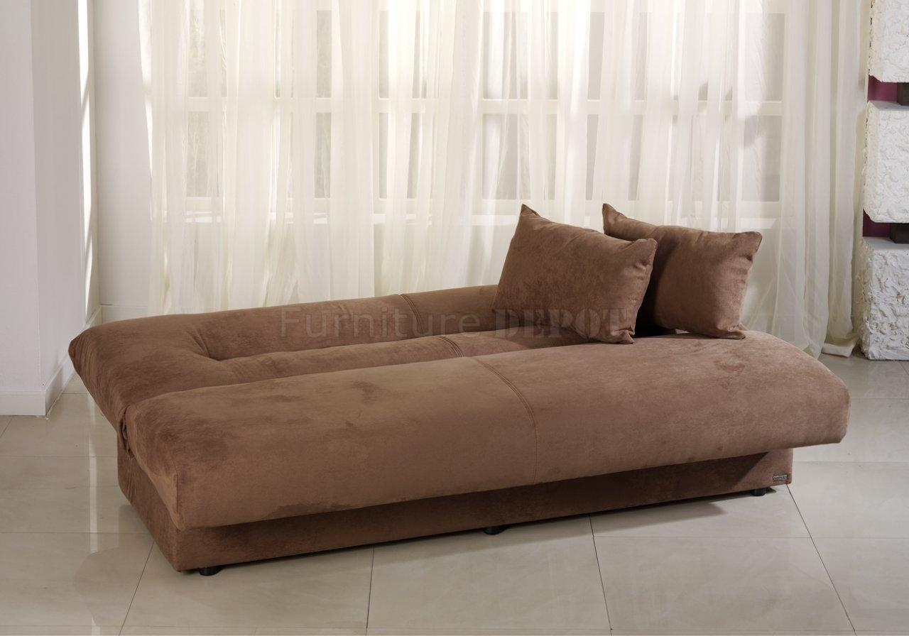 Sofa Beds With Storage And Contemporary Truffle Microfiber Sofa In Microsuede Sofa Beds (View 14 of 20)