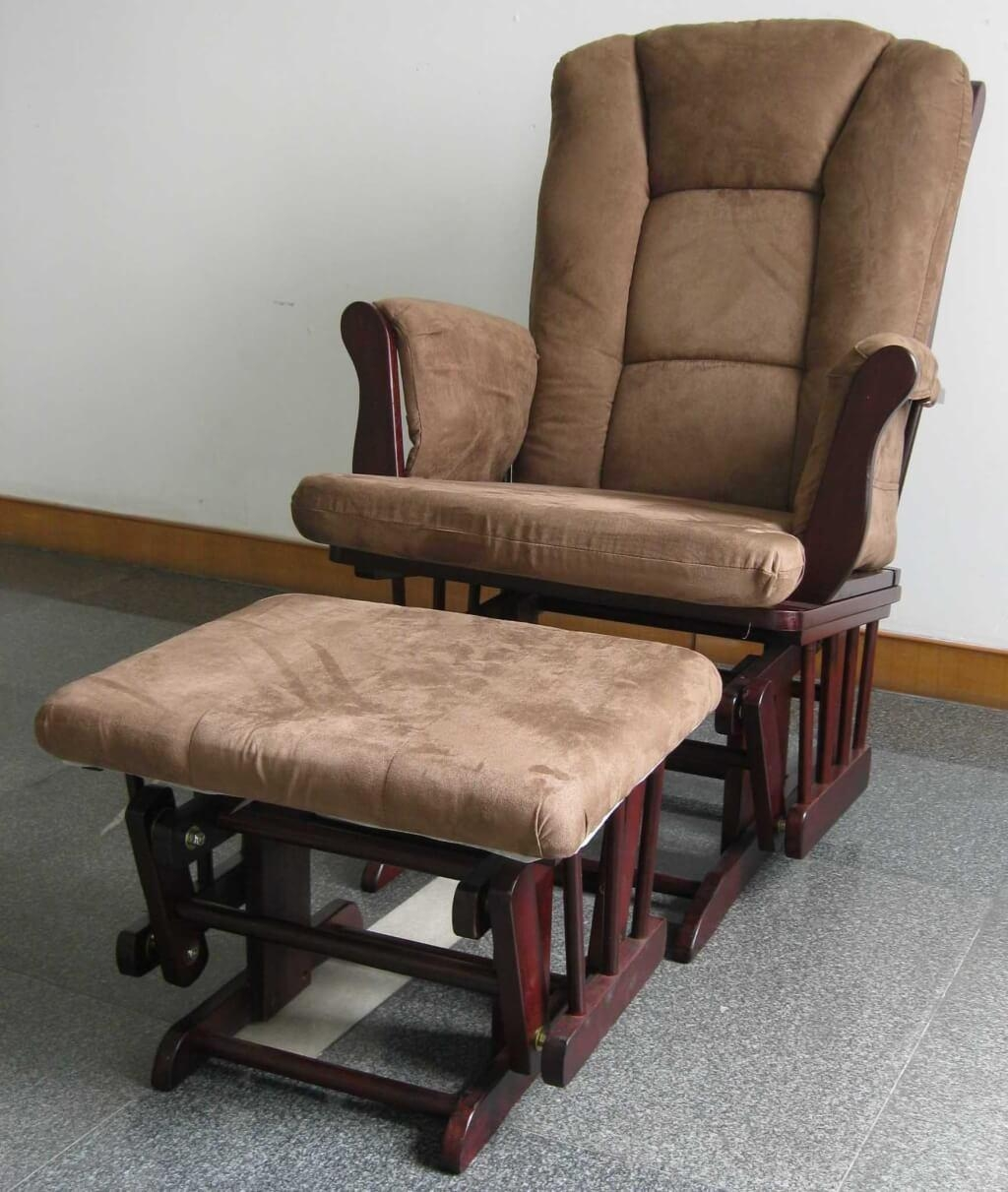 Sofa Brown Rocking Chair For Nursery   Tamingthesat With Rocking Sofa Chairs (Image 14 of 20)