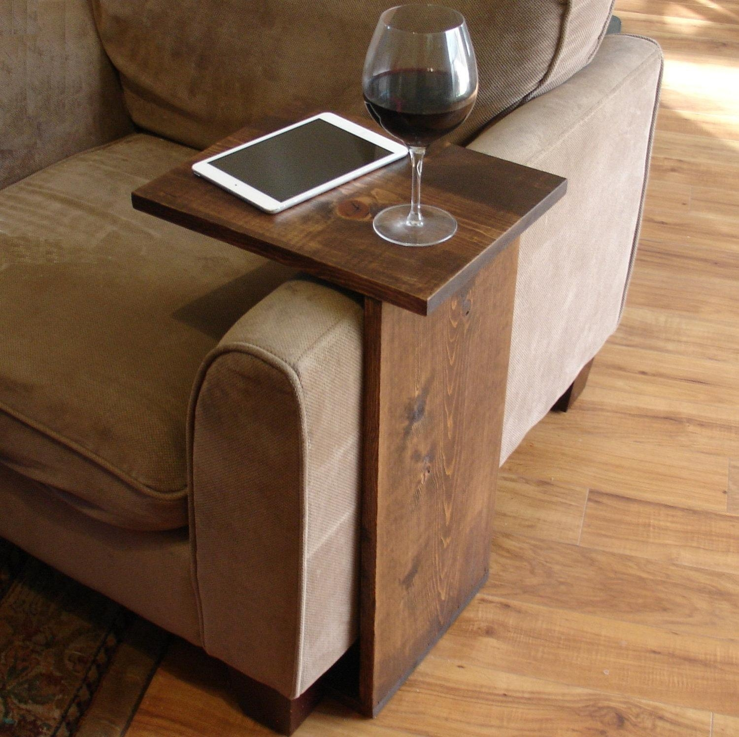 Sofa Chair Arm Rest Tray Table Stand Throughout Sofa Drink Tables (Image 16 of 20)