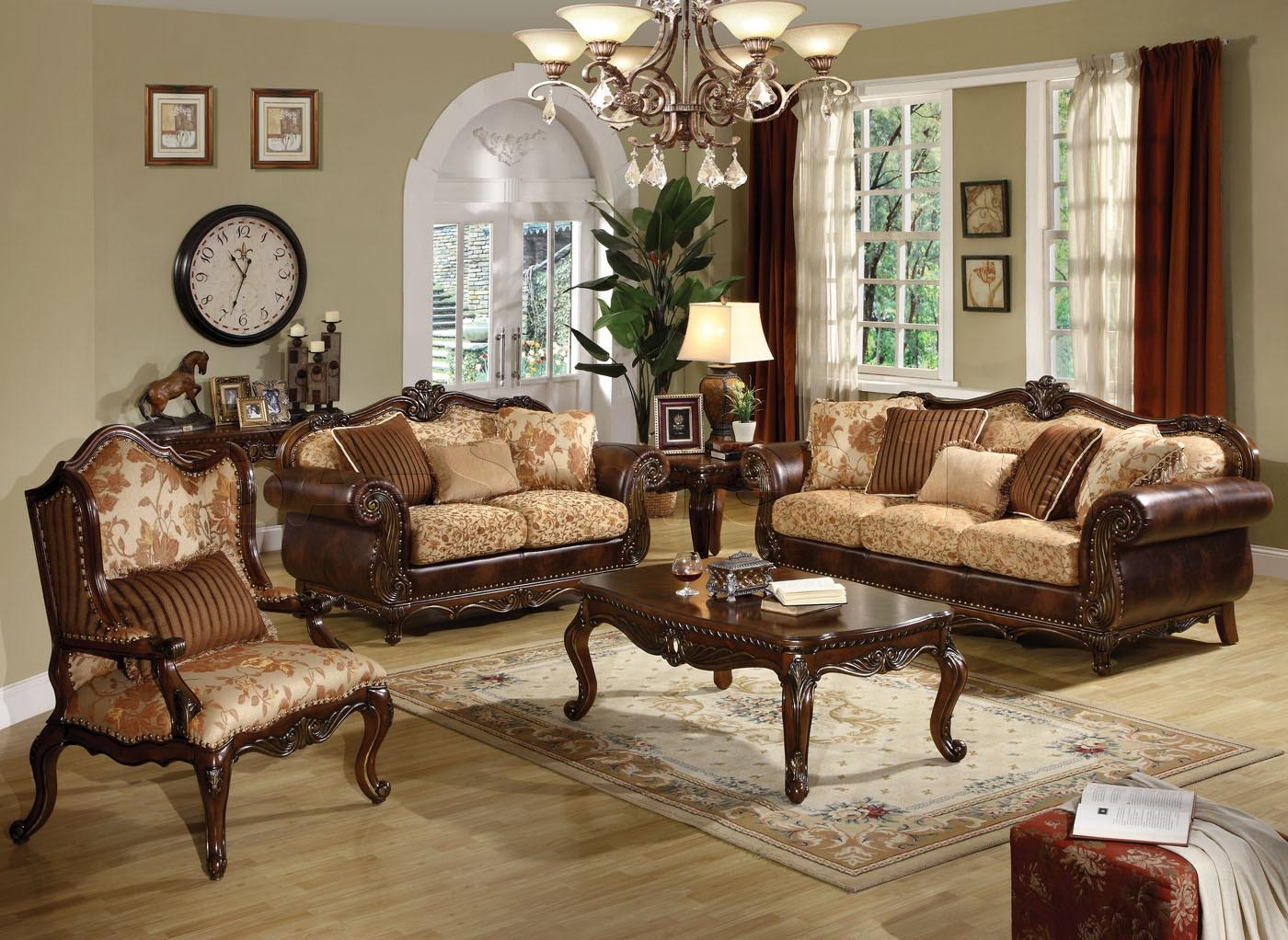 Sofa Chair Sets, Brown Chairs For Living Room With Torricella For Traditional Sofas And Chairs (Image 9 of 20)