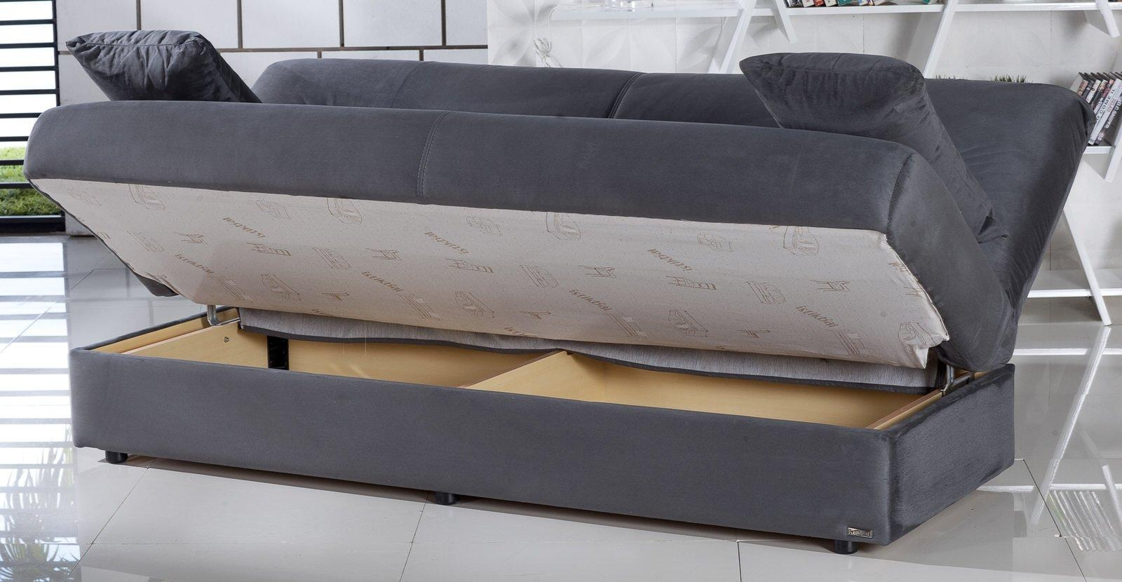 Sofa Convertible Bed With Storage Serta Traditional German Made Intended For Sofa Convertibles (Image 17 of 20)