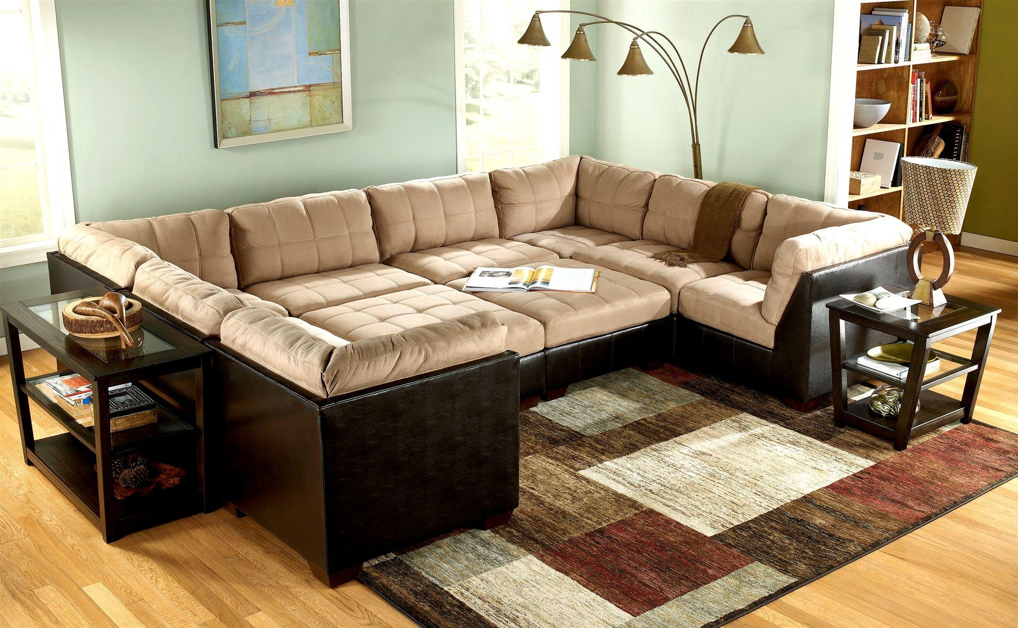 Sofa: Cool Couches For Provides A Warm To Comfortable Feel And Low Inside Sectional With Oversized Ottoman (Image 14 of 20)