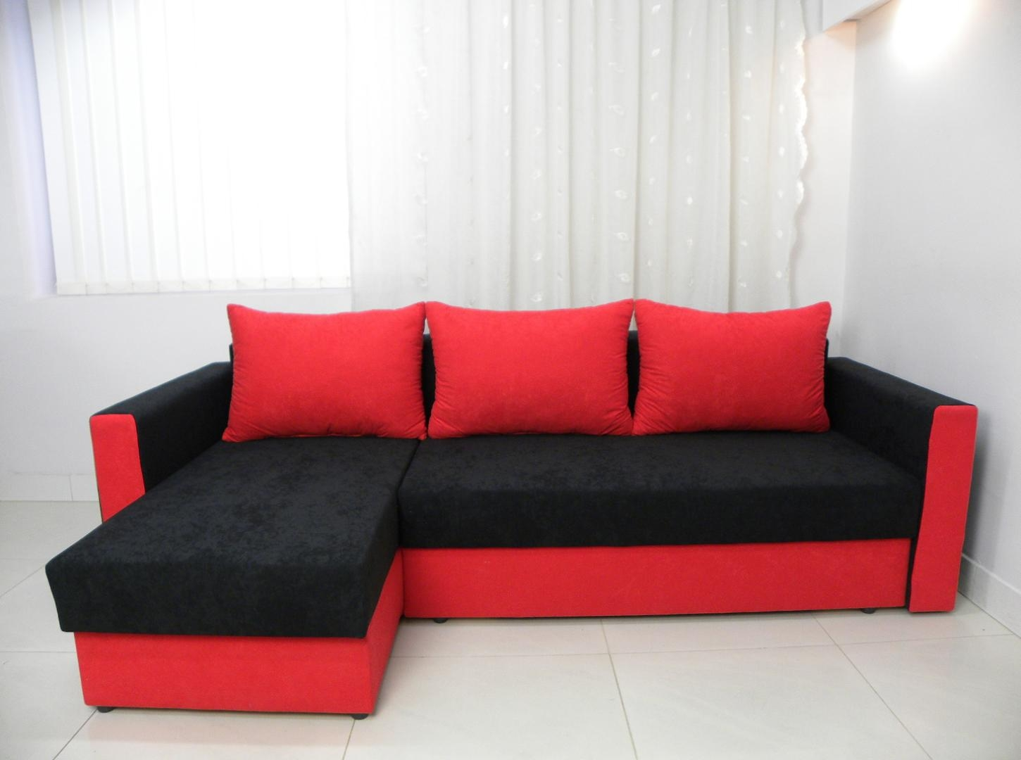 Sofa Corner Bed Red Redditch South Wales Leather Cover Birmingham For Sofa Red And Black (Image 17 of 20)