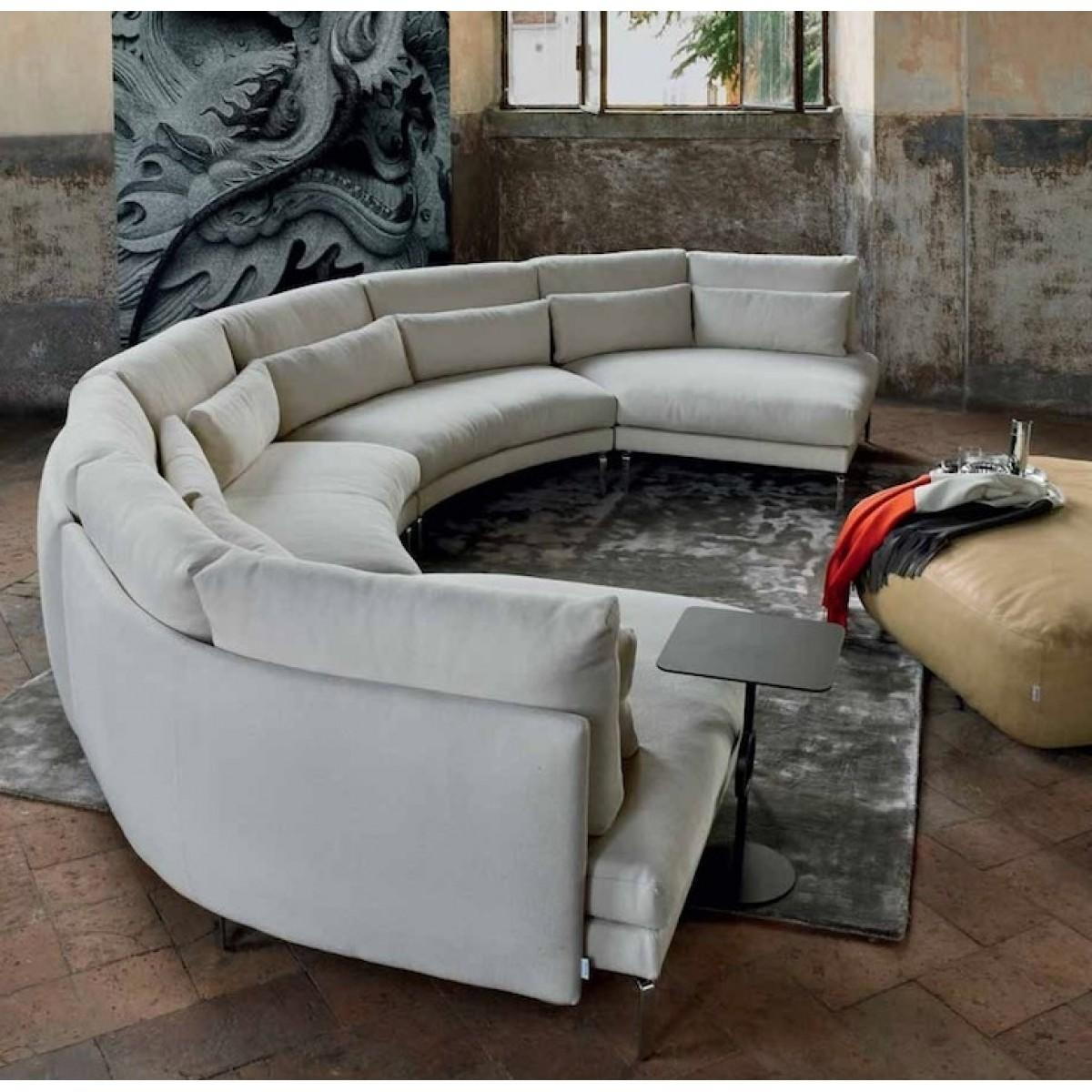 Sofa Design Ideas: Half Semi Circular Sofa Tables In Sale With Throughout Semicircular Sofa (Image 17 of 20)