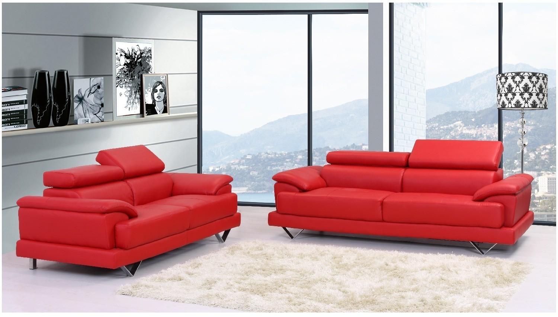 Sofa: Glamorous Red Leather Sofa 2017 Ideas Dark Red Leather Sofa In Dark Red Leather Couches (Image 17 of 20)