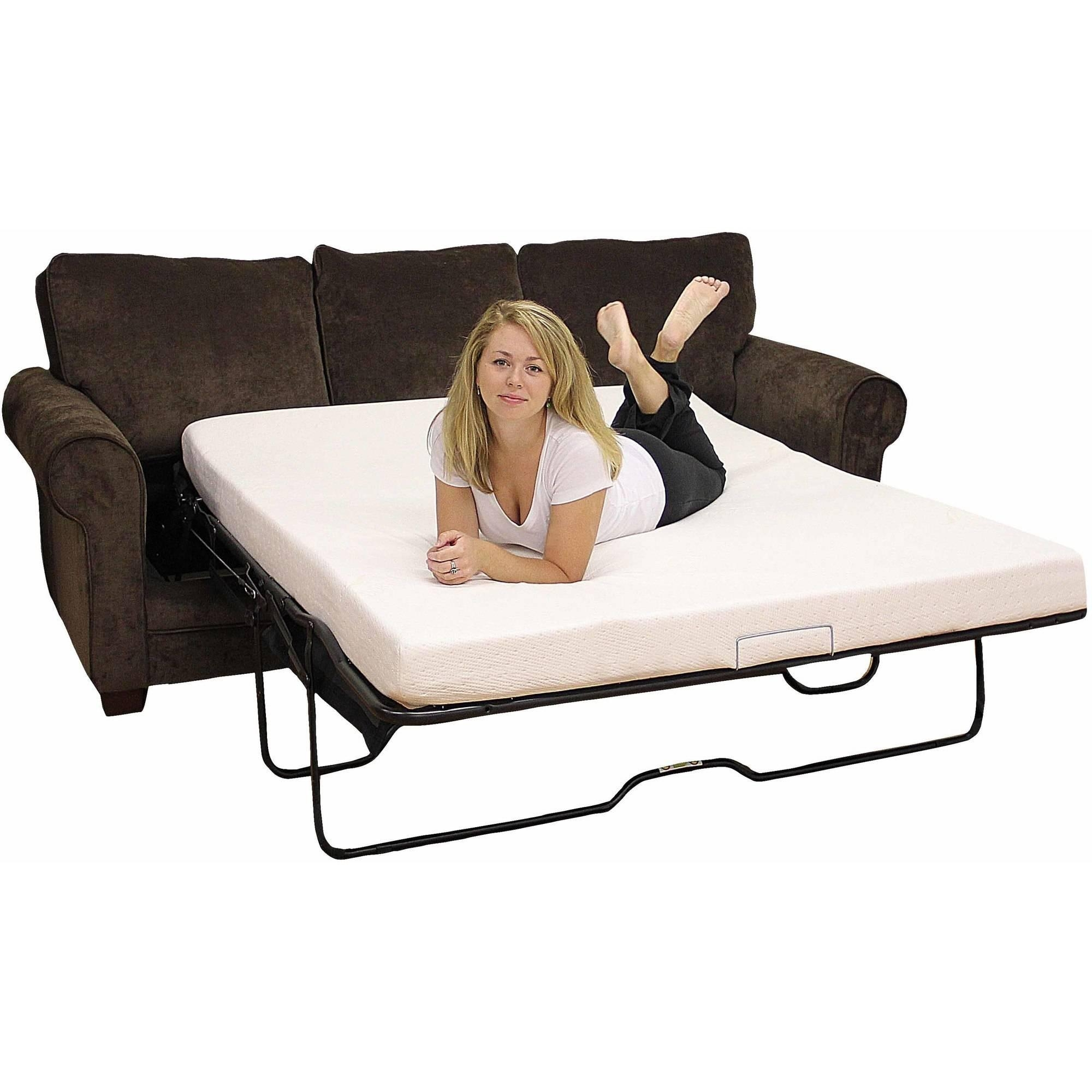 Sofa: Modern Look With A Low Profile Style With Walmart Sofa Bed Inside Intex Sleep Sofas (View 19 of 20)