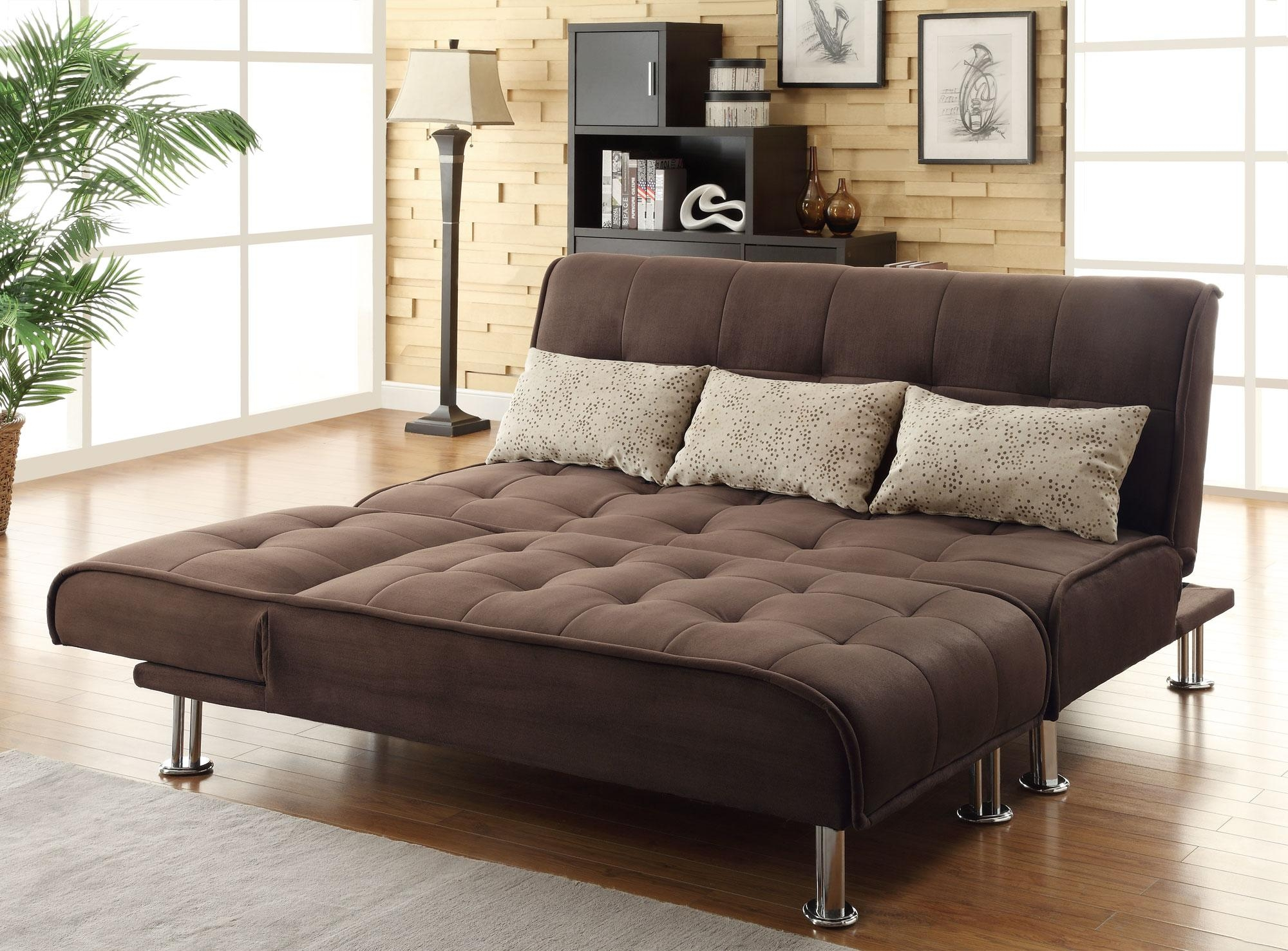 Sofa: Modern Look With A Low Profile Style With Walmart Sofa Bed Pertaining To Sofa Beds With Mattress Support (Image 16 of 20)