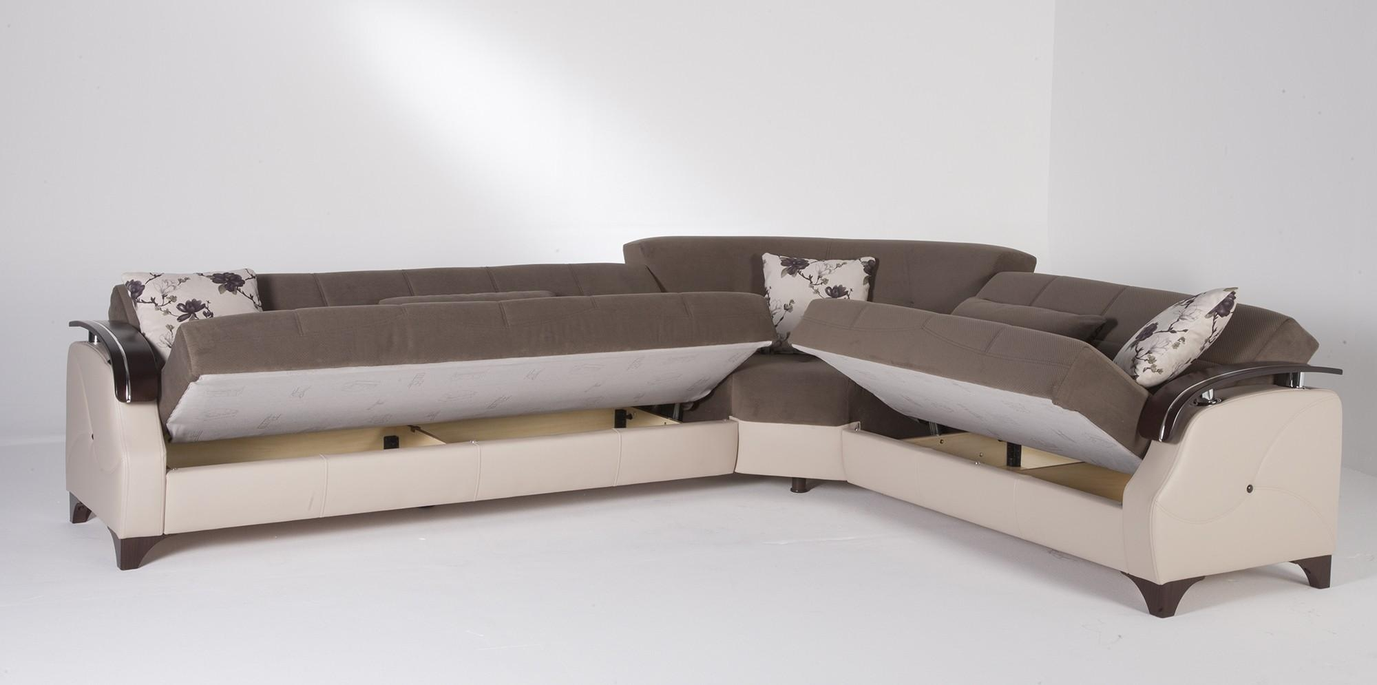 Sofa : Queen Sofa Sleeper Sectional Microfiber Beautiful Home Pertaining To Queen Sofa Sleeper Sectional Microfiber (Image 15 of 20)