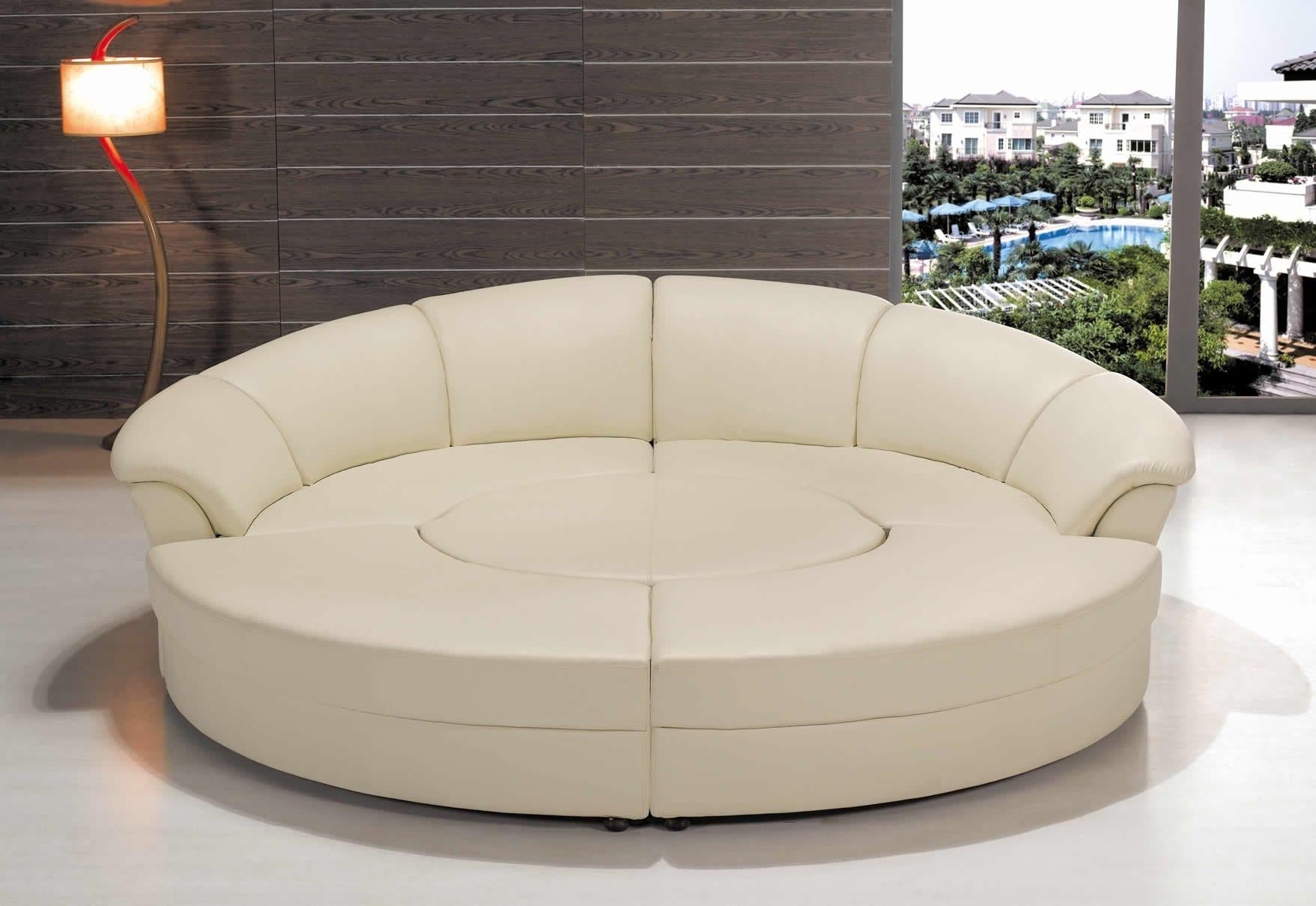 Sofa Round Sectional Bed | Tamingthesat within Round Sectional Sofa Bed