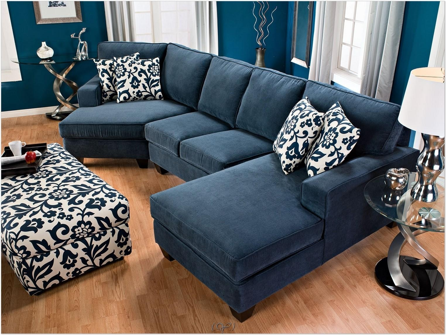 Sofa : Royal Blue Sectional Used Sofas For Sale Farmhouse Style In Blue Microfiber Sofas (View 7 of 20)