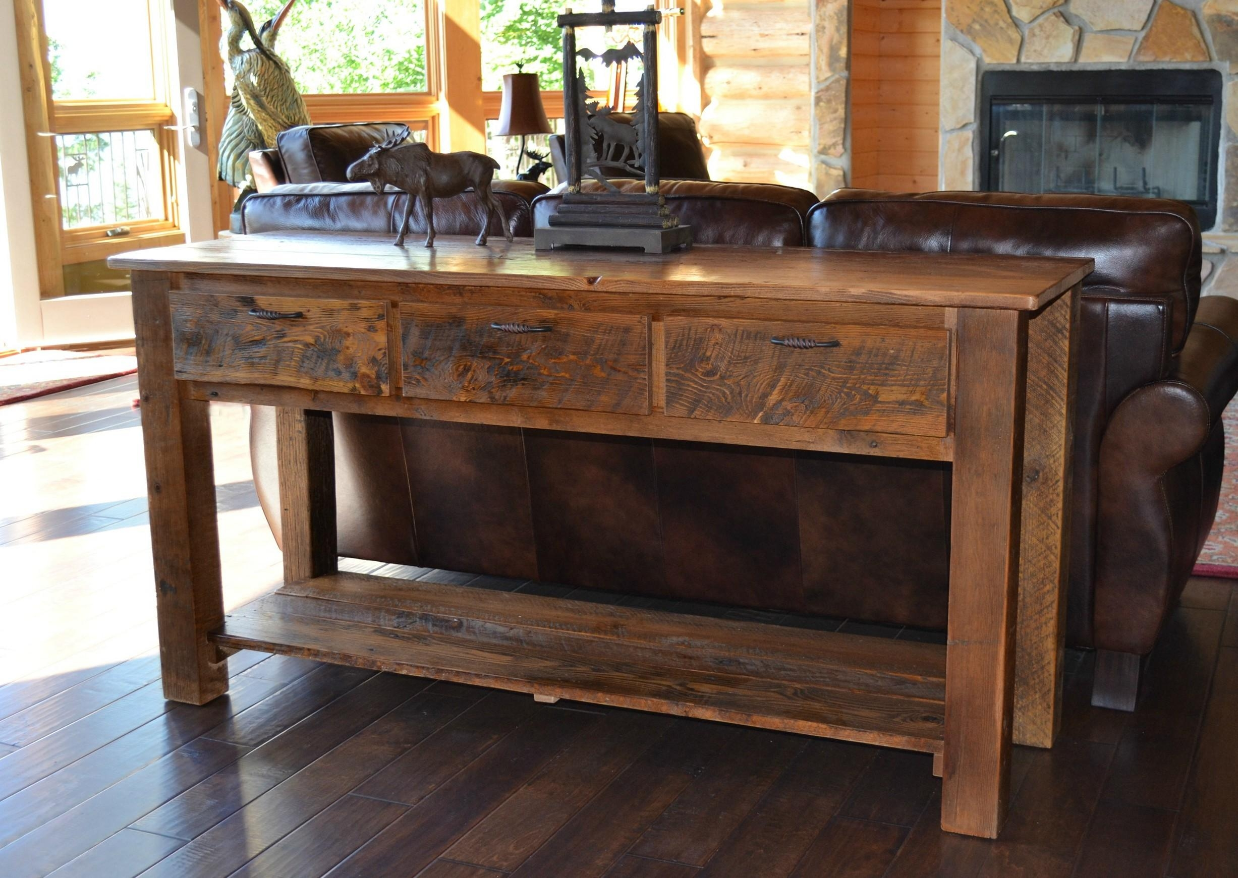 Sofa Rustic Tables With Storage | Ciov In Sofa Tables With Storages (Image 12 of 20)