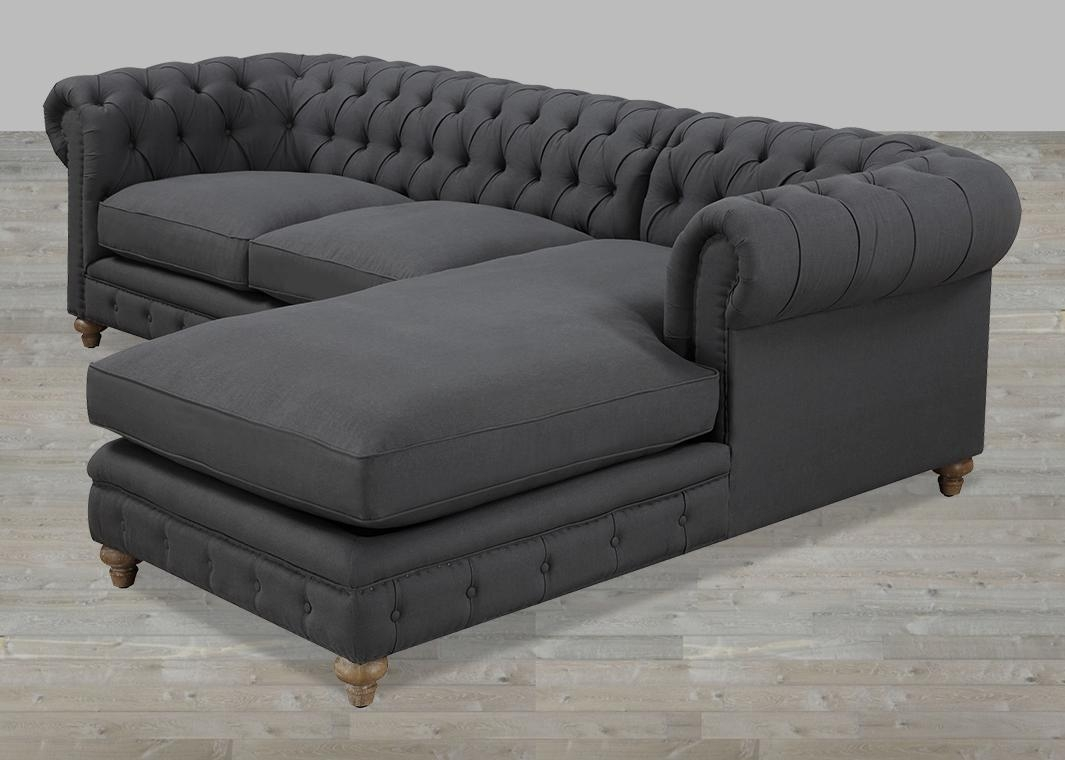 Featured Photo of Tufted Sectional Sofa Chaise