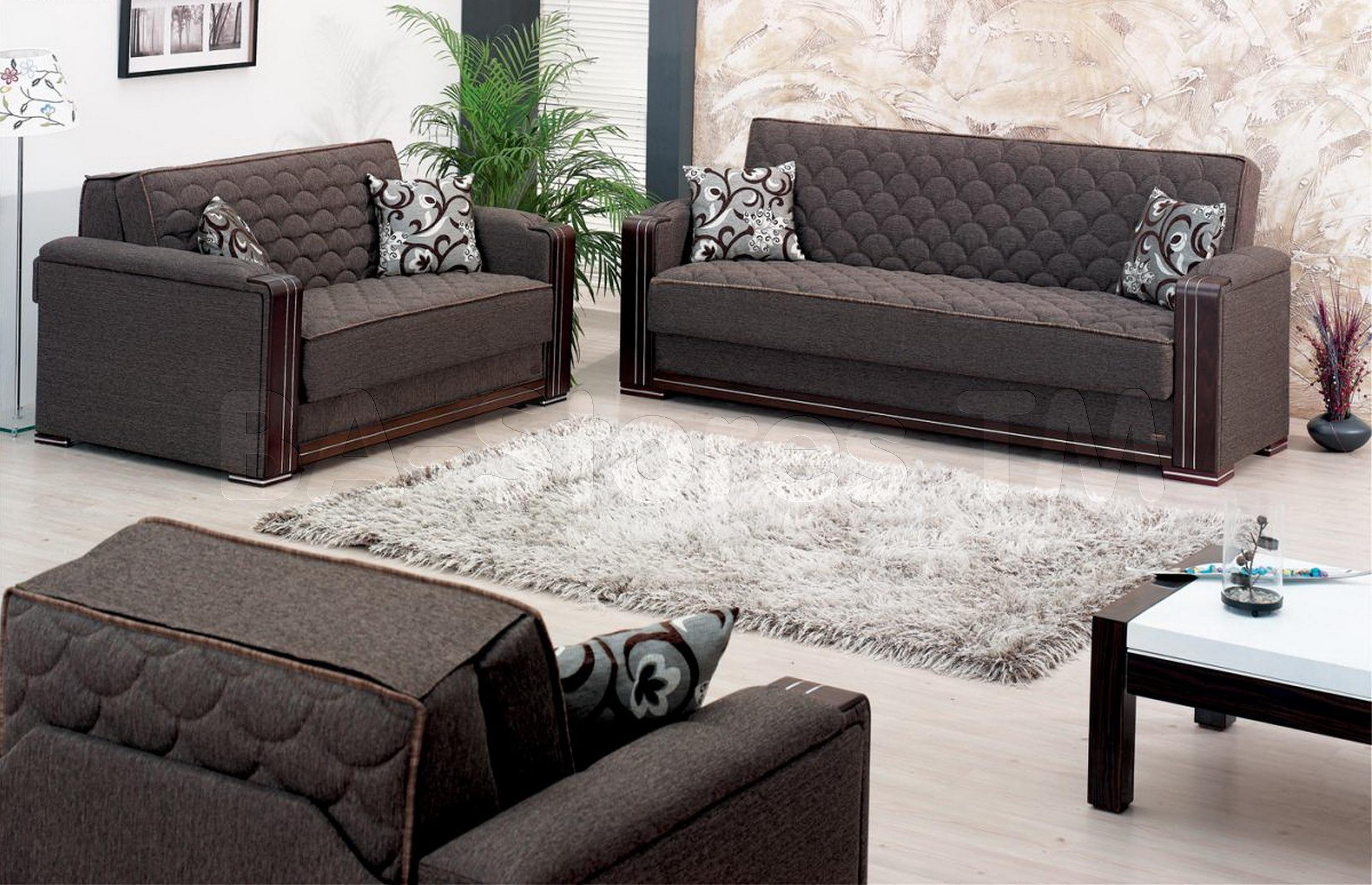 Sofa Sets: Oregon 3 Pc Sofa Set With Wooden Front Panels (Sofa For Sofa And Chair Set (View 13 of 20)