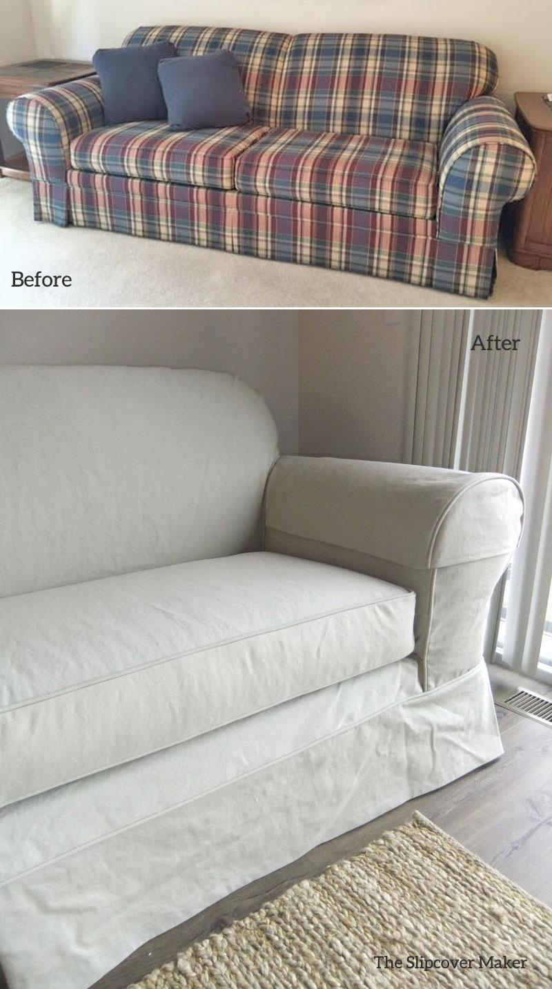 Sofa Slipcovers | The Slipcover Maker For Denim Sofa Slipcovers (Image 17 of 20)