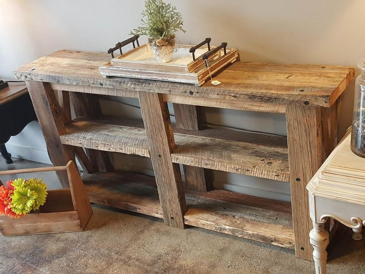 Sofa Table 100 Year Old Barn Wood – Knude Products Within Barnwood Sofa Tables (Image 16 of 20)